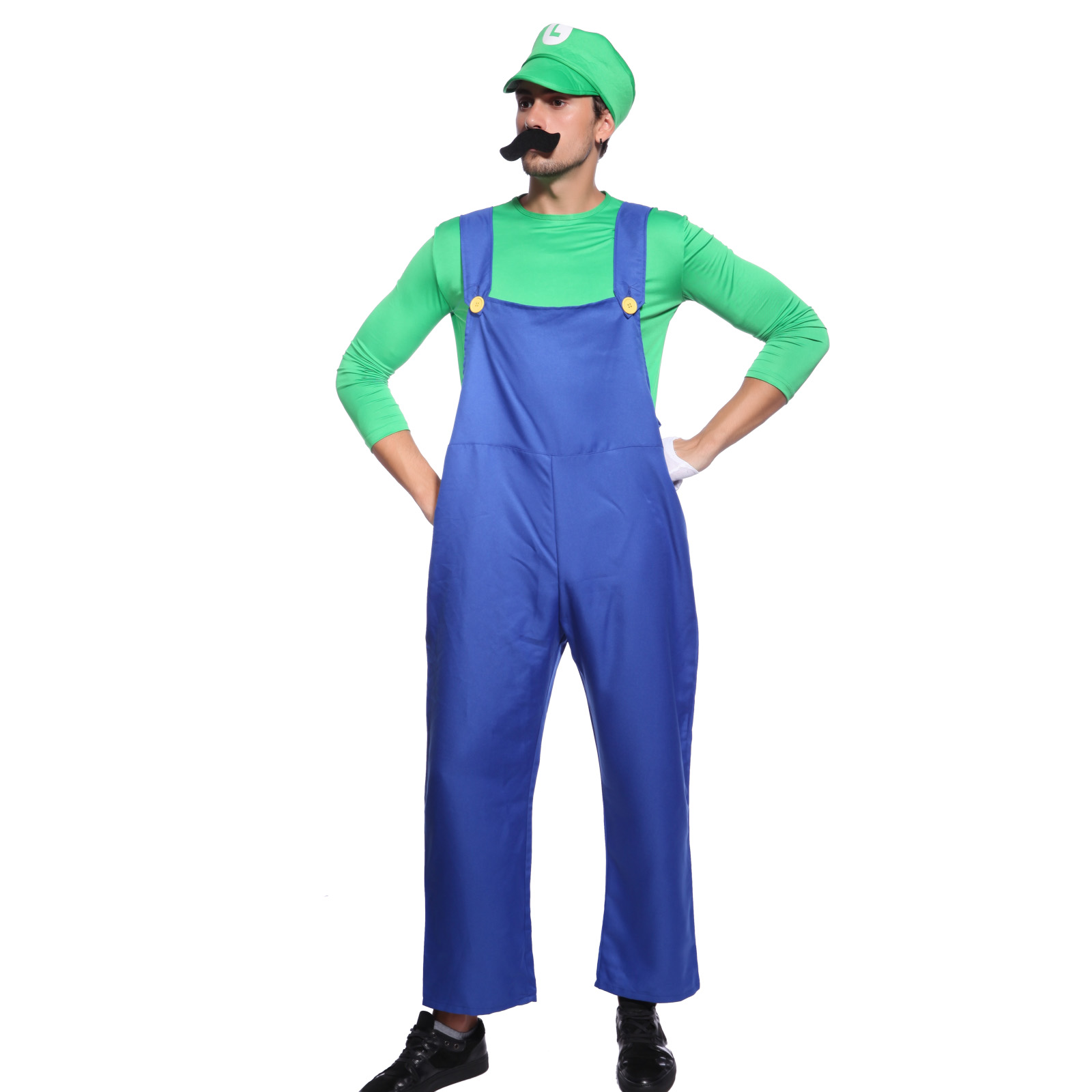 super mario bros mario luigi klempner herren kost m oder bierbauch f r karneval ebay. Black Bedroom Furniture Sets. Home Design Ideas