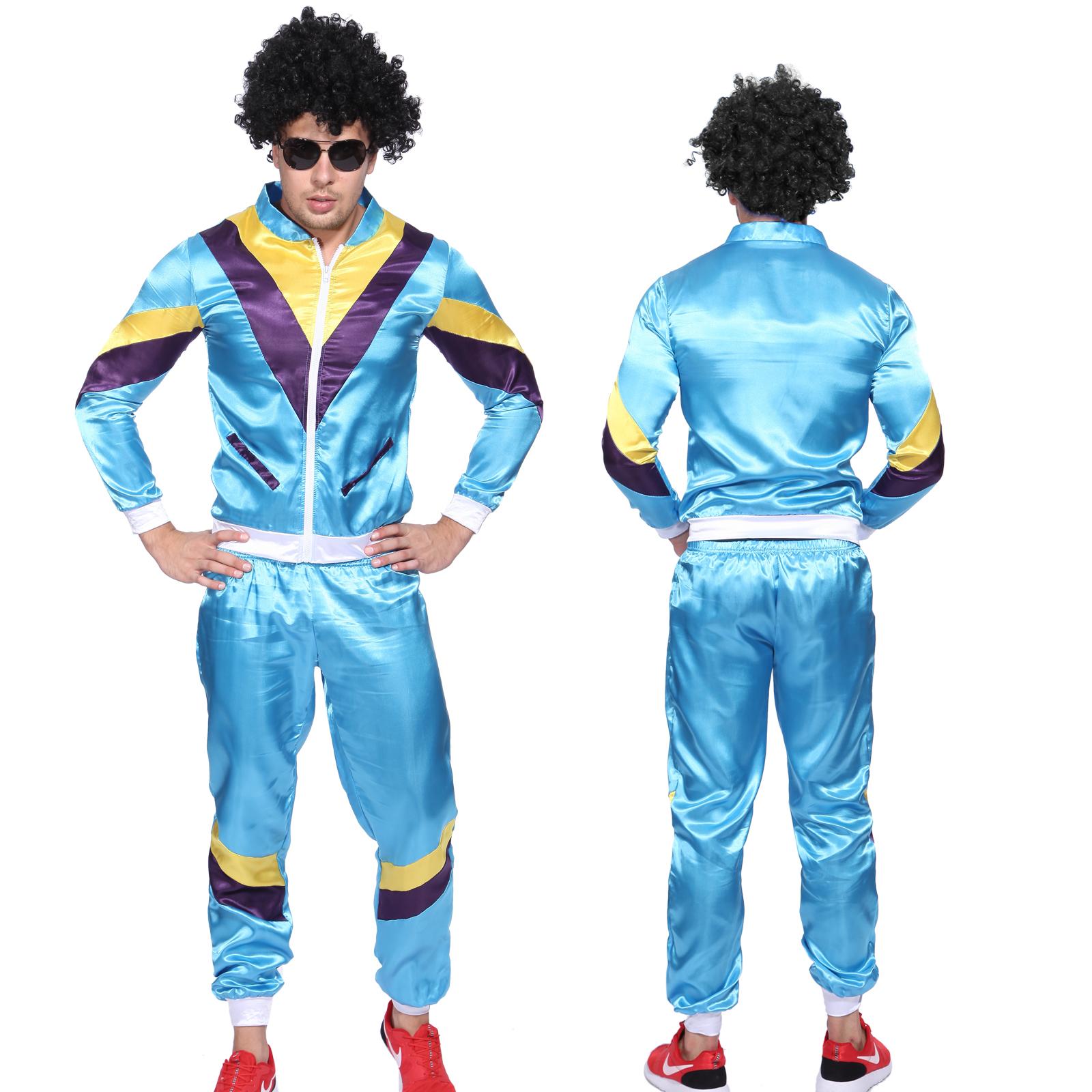 adult 80s tracksuit shell suit scouser 1980s mens fancy