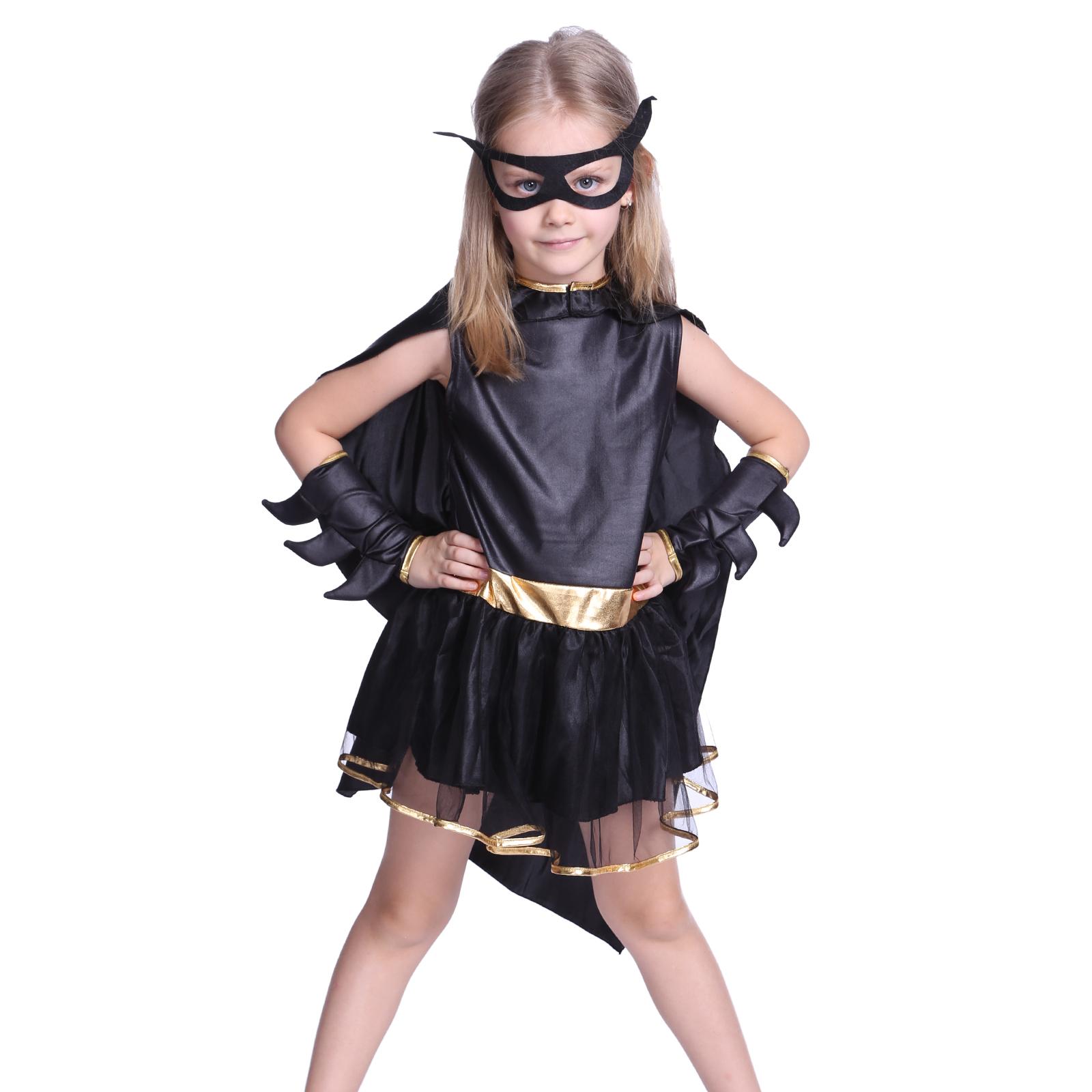 girls toddler batman batgirl costume kids party fancy dress book week costumes ebay. Black Bedroom Furniture Sets. Home Design Ideas