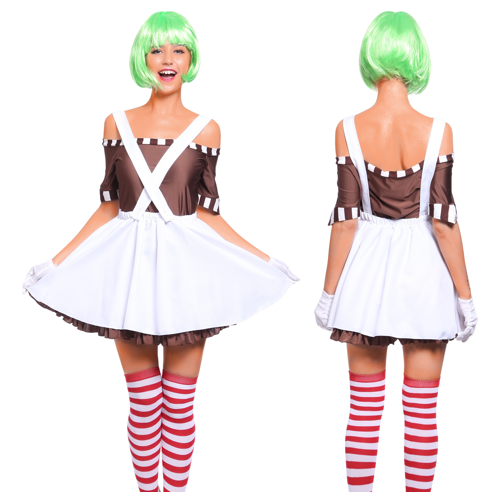 Oompa Chocolate Factory Worker Loompa Wig 111  sc 1 st  Colorful Cheap Wigs : oompa loompa costumes for adults  - Germanpascual.Com