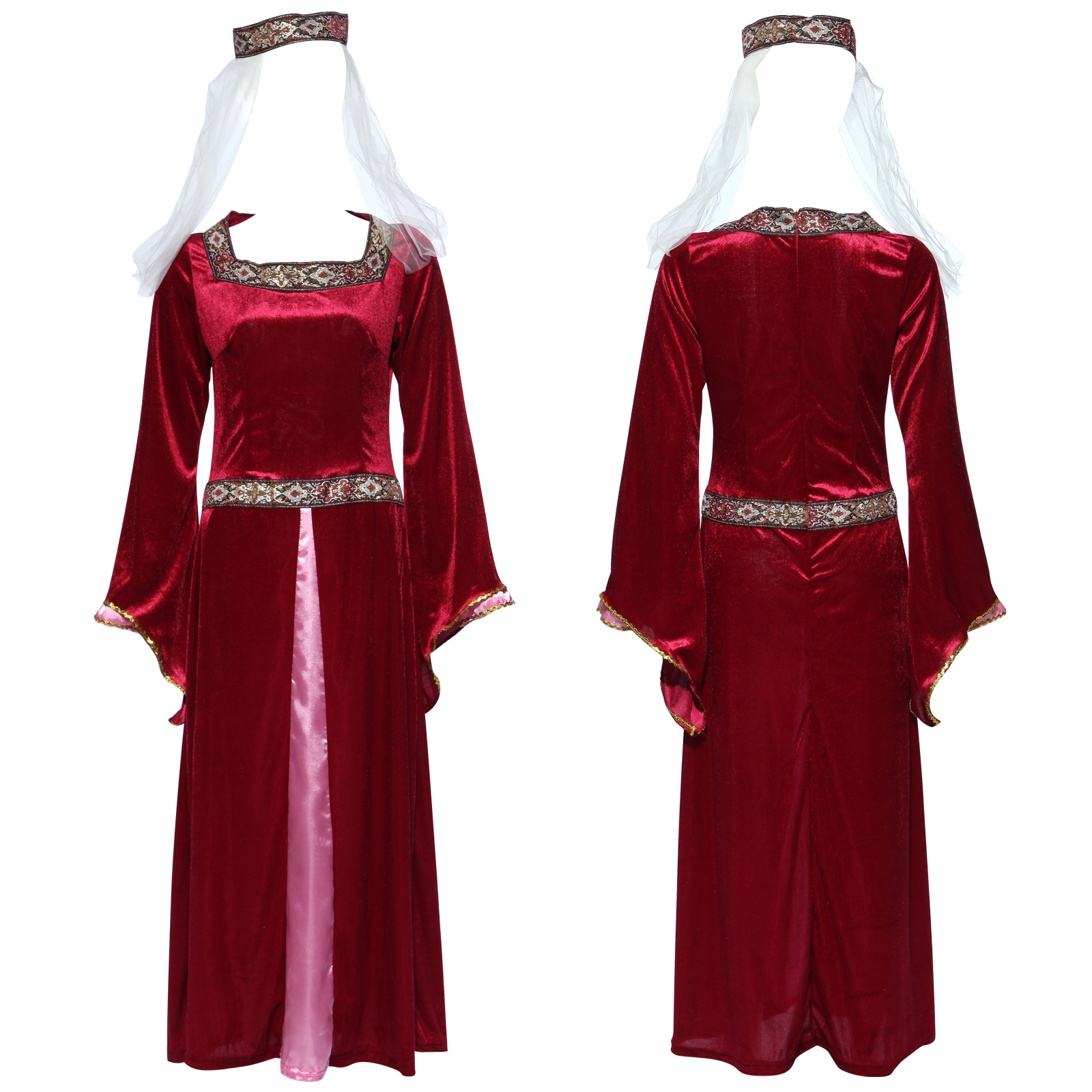 robe marion medieval moyen age renaissance d guisement costume femme halloween ebay. Black Bedroom Furniture Sets. Home Design Ideas