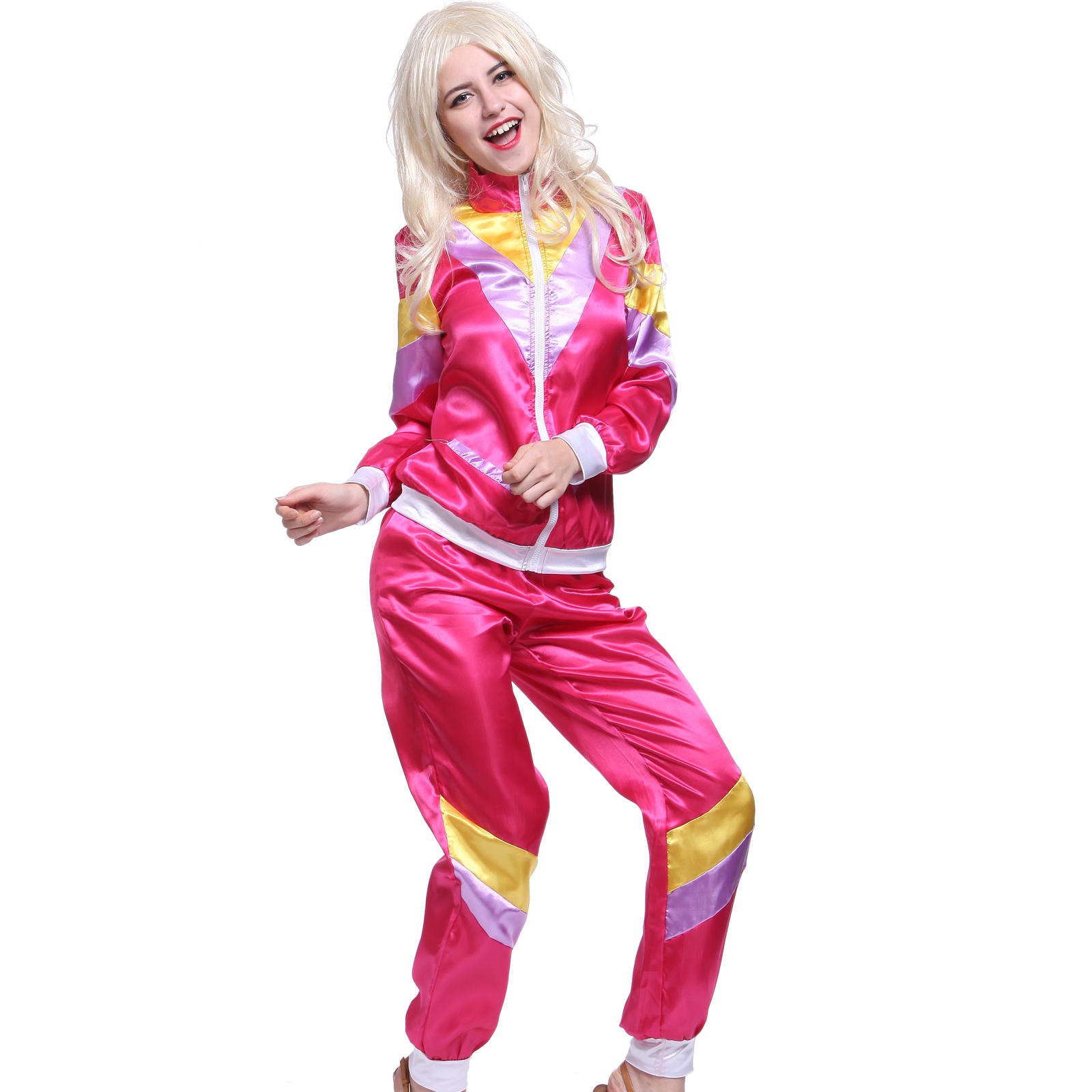 D guisement costume tenue survetement annee 80 1980s unisexe 118 218 hip hop ebay - Annee 80 tenue ...