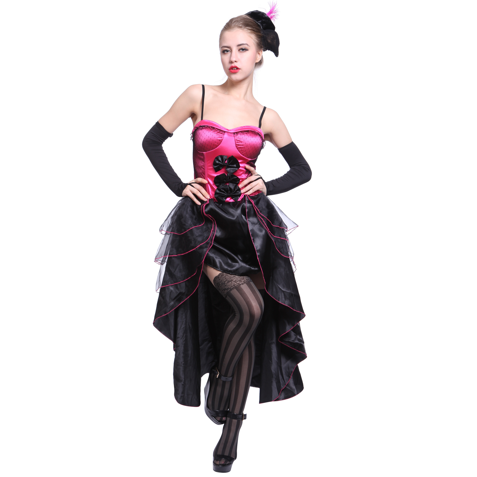 moulin rouge showgirl dancer fancy dress can can - Can Can Dancer Halloween Costume