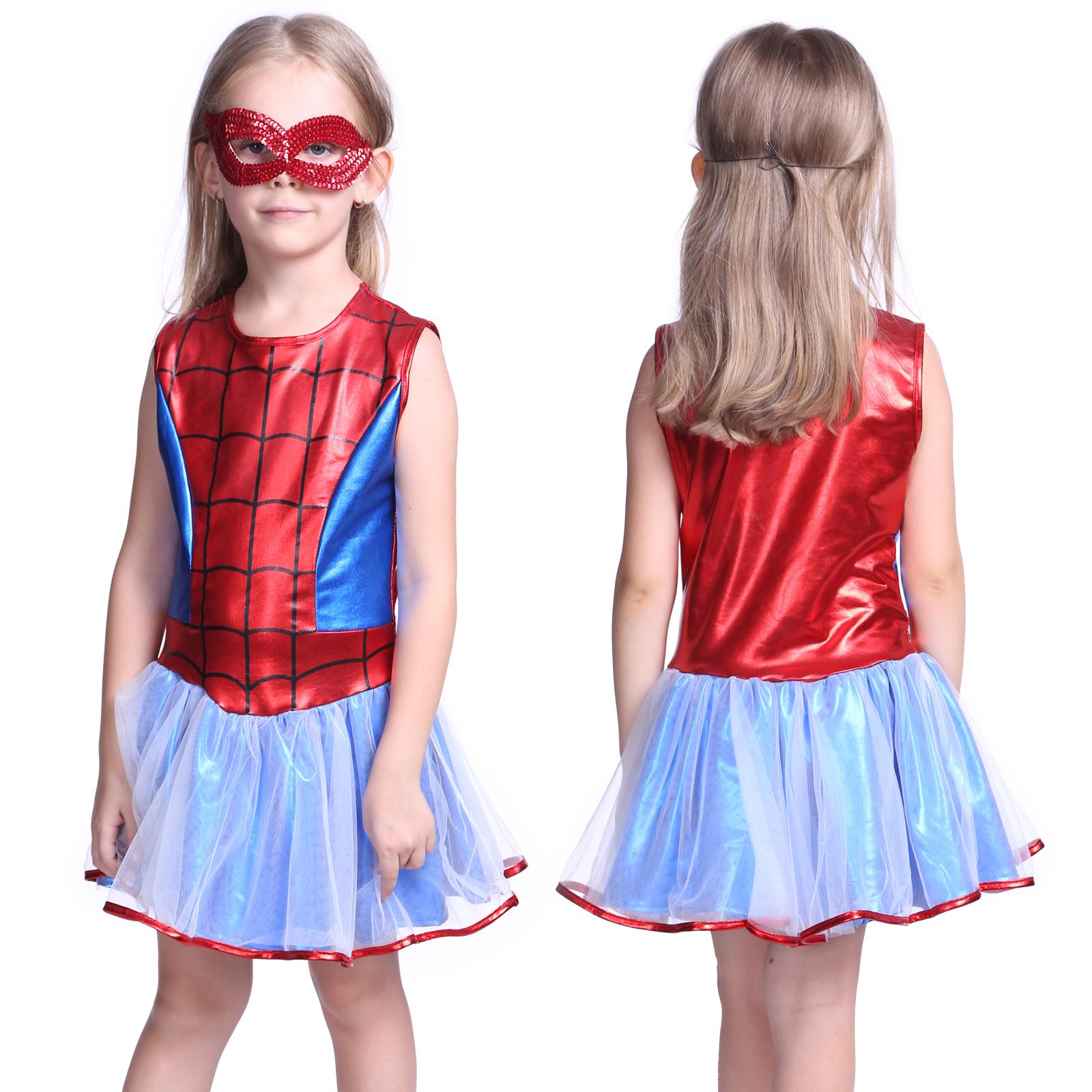 spidergirl batgirl m dchen kinder kost m fasching halloween super hero. Black Bedroom Furniture Sets. Home Design Ideas