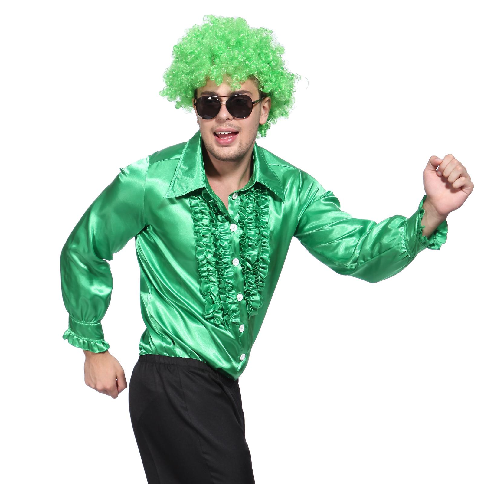 mens 70s disco dancing suit dance night metallic shirt. Black Bedroom Furniture Sets. Home Design Ideas