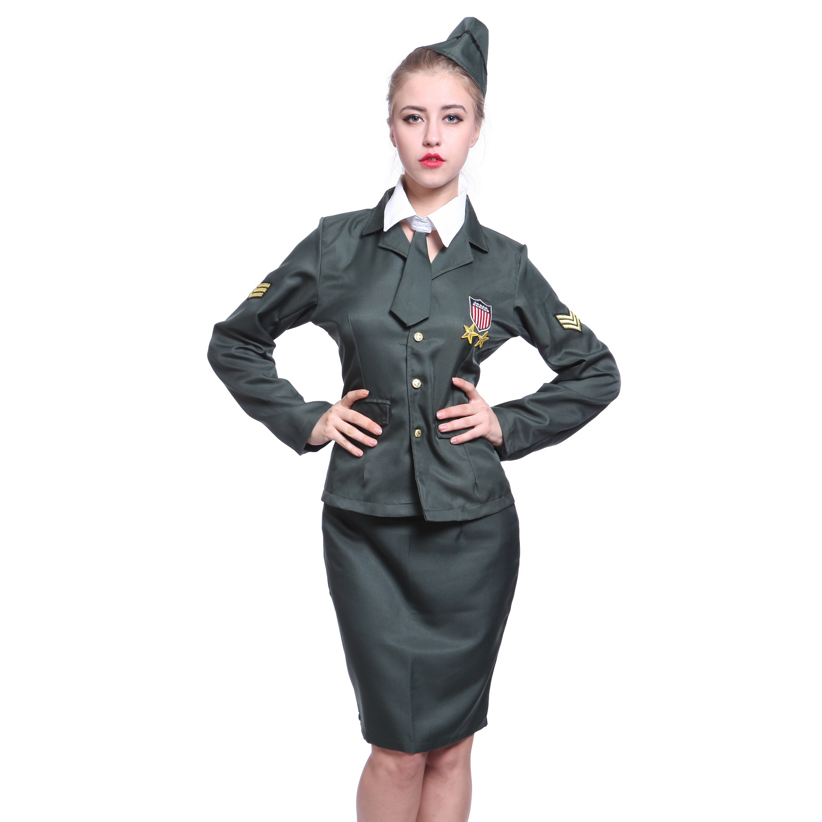 army girl milit r sexy damen kost m armee fun club halloweenkost m halloween ebay. Black Bedroom Furniture Sets. Home Design Ideas