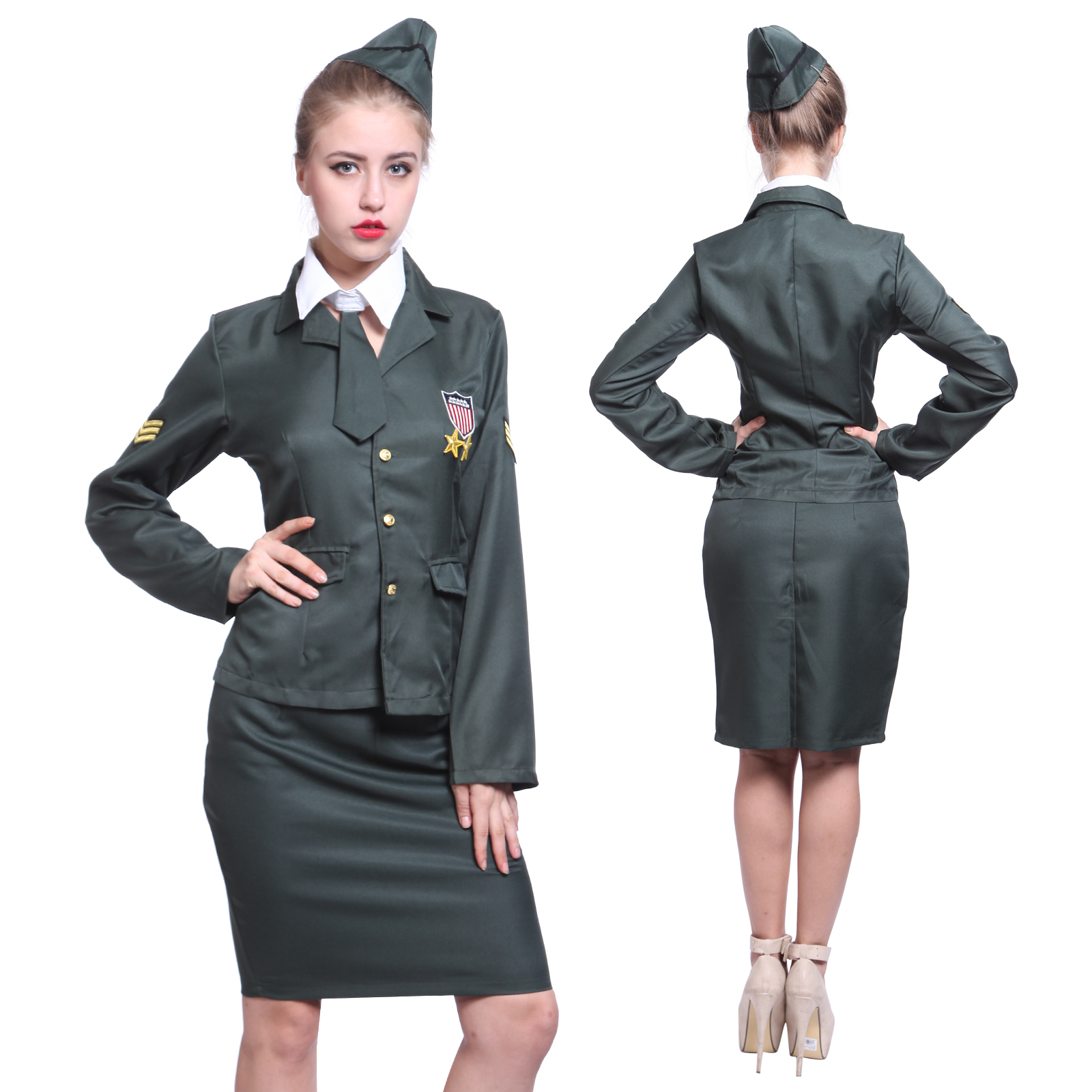 army girl milit r sexy damen kost m armee fun club. Black Bedroom Furniture Sets. Home Design Ideas