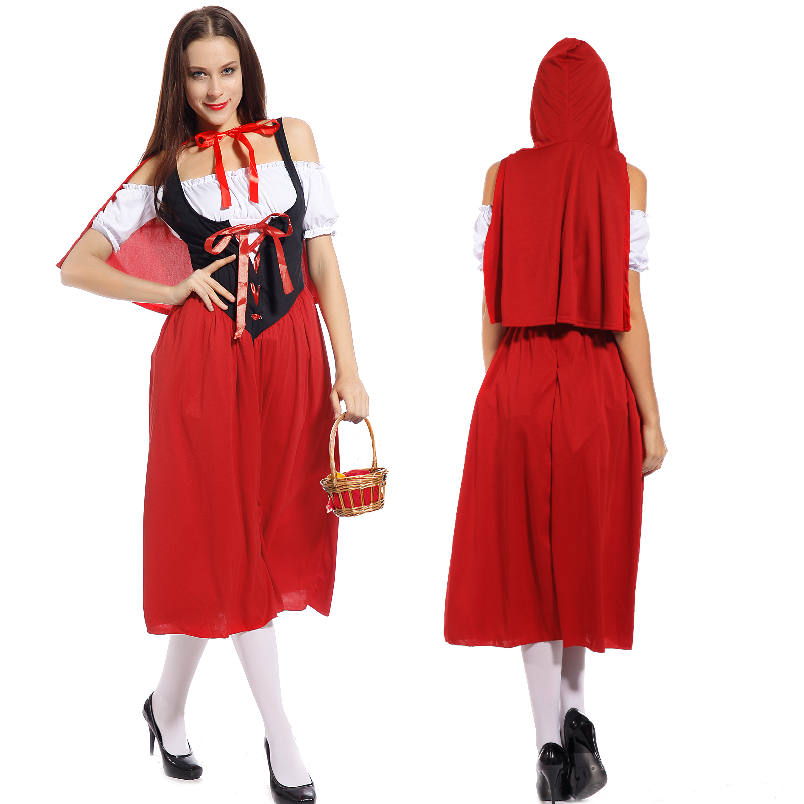 Ladies Little Red Riding Hood Storybook Fancy Dress Hen