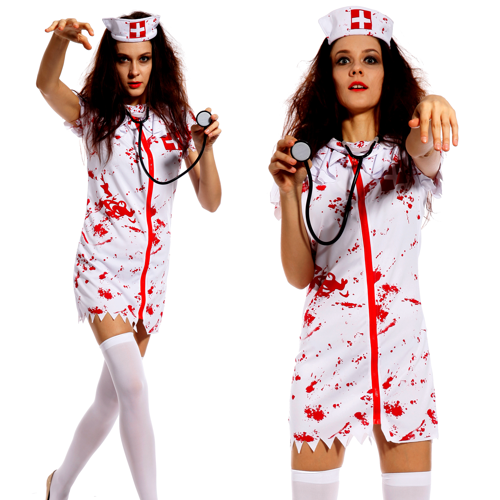 Adult zombie nurse halloween horror ladies womens fancy dress adult zombie nurse halloween horror ladies womens fancy dress costume size 4 10 solutioingenieria Gallery