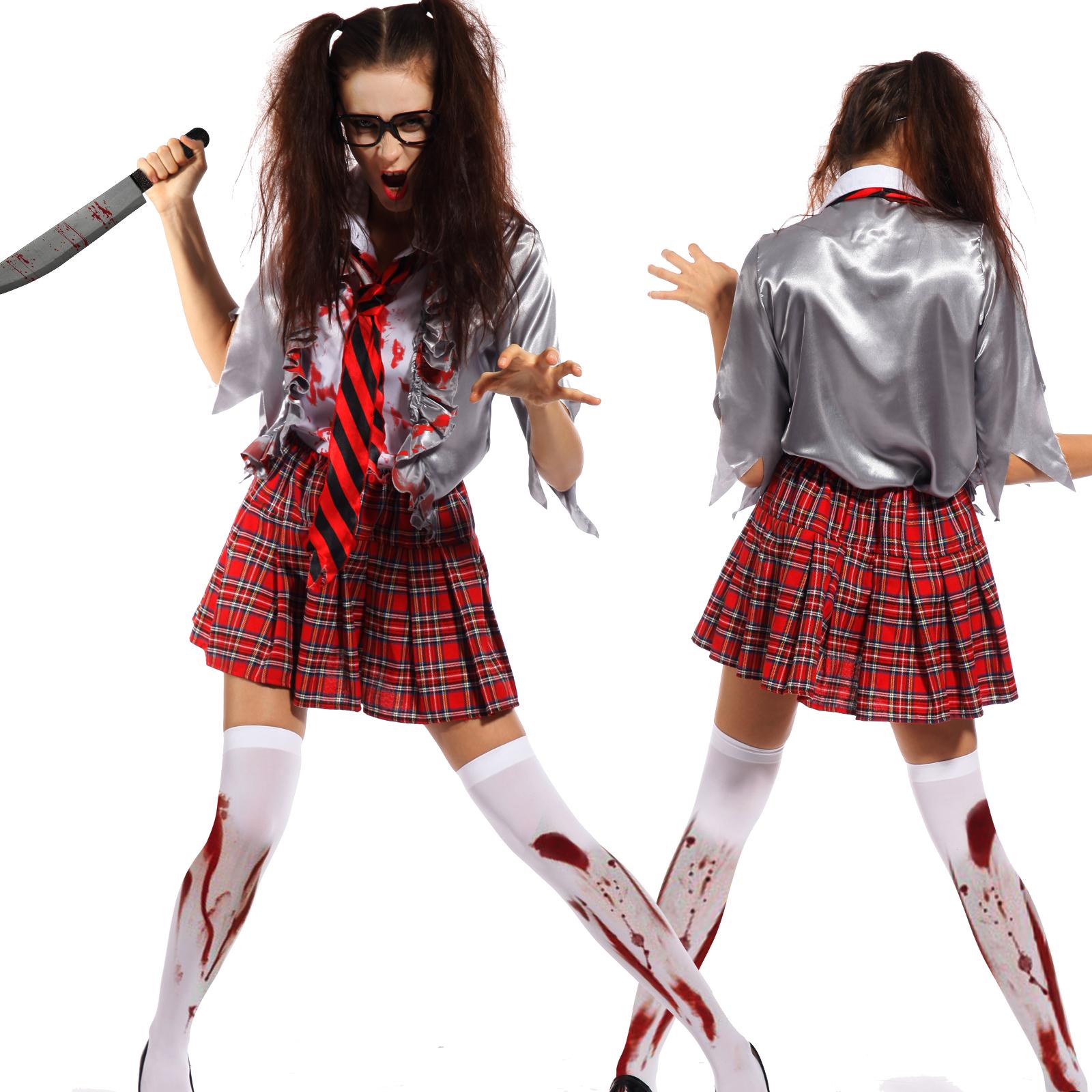 zombie schulm dchen kost m f r kinder m dchen halloween ebay. Black Bedroom Furniture Sets. Home Design Ideas