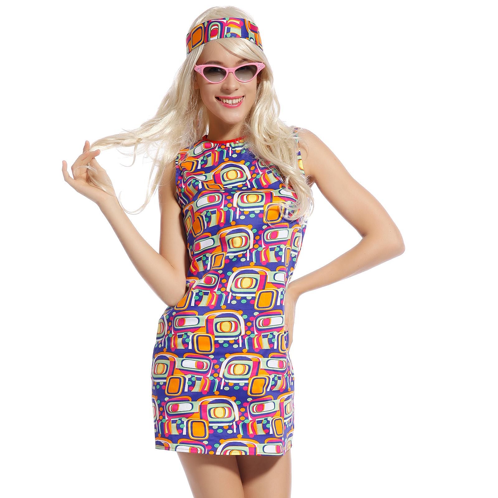 hippie damenkost m kleid hippie tunika party kleid langarm rmerlos kleider ebay. Black Bedroom Furniture Sets. Home Design Ideas