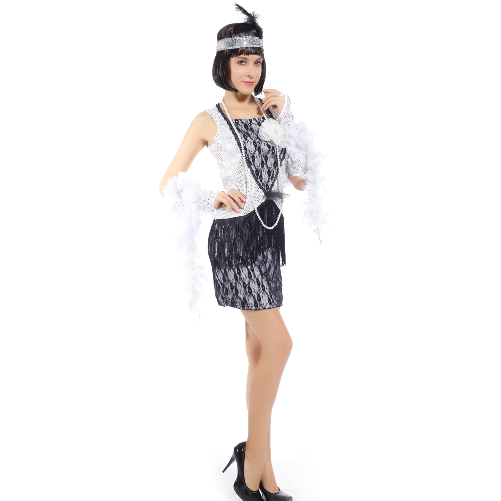 ... -20s-Retro-Sequined-Lace-Charleston-Gatsby-Flapper-Fancy-Dress-Outfit