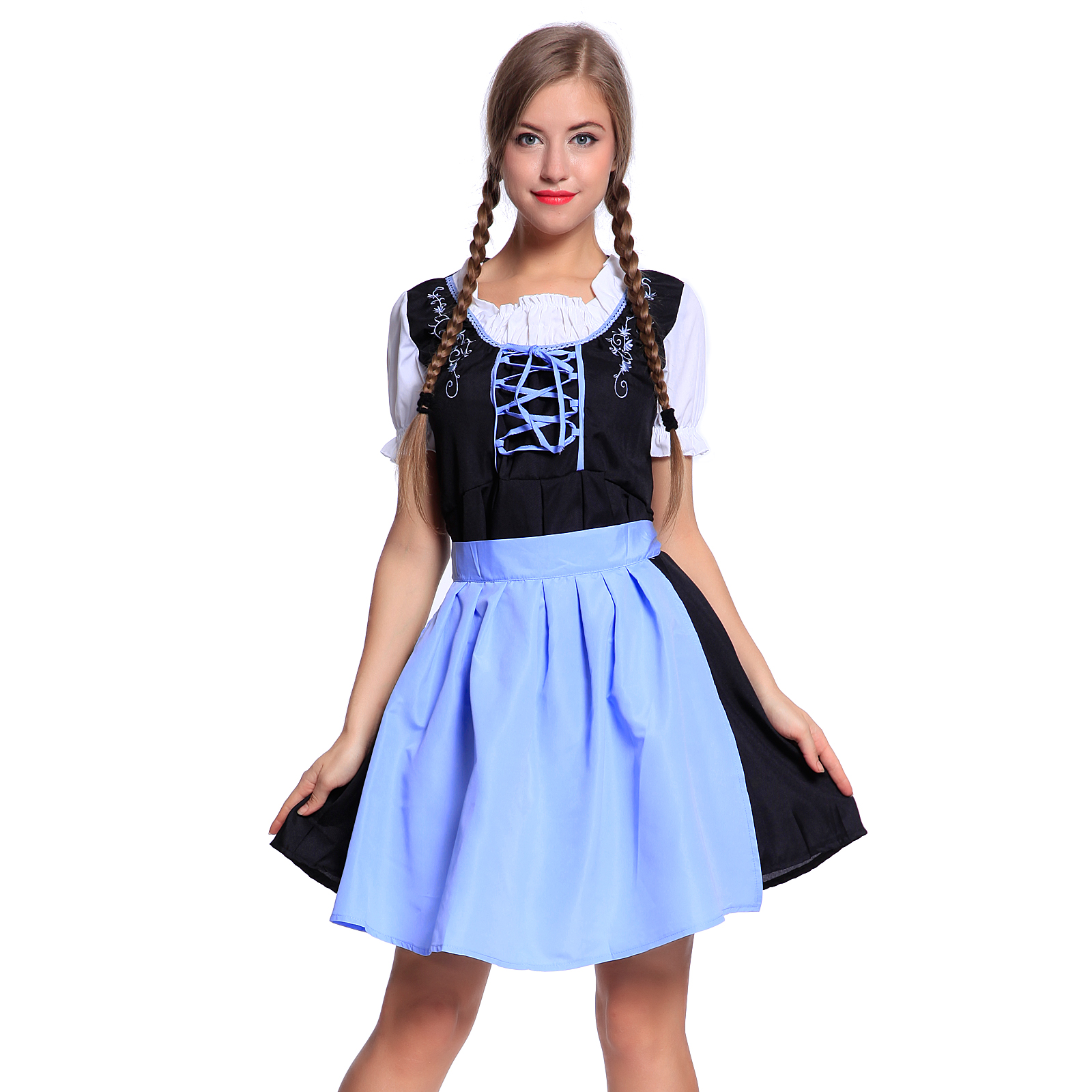 Womens Authentic German Mini Dirndl Oktoberfest Fancy ...