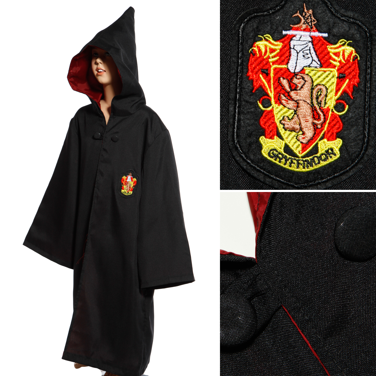 Robe And Wizard Hat: Adult Kids Fairytale Wizard Costume Cloak Robe Cape