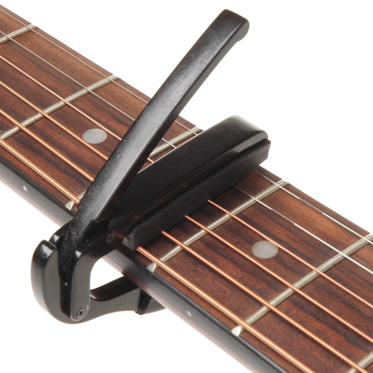 guitar capo clamp for acoustic electric guitar black music. Black Bedroom Furniture Sets. Home Design Ideas