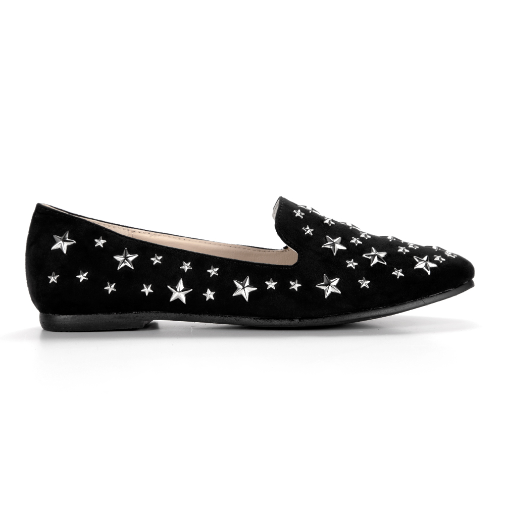 flat studded shoes suede slip on loafers pumps stud