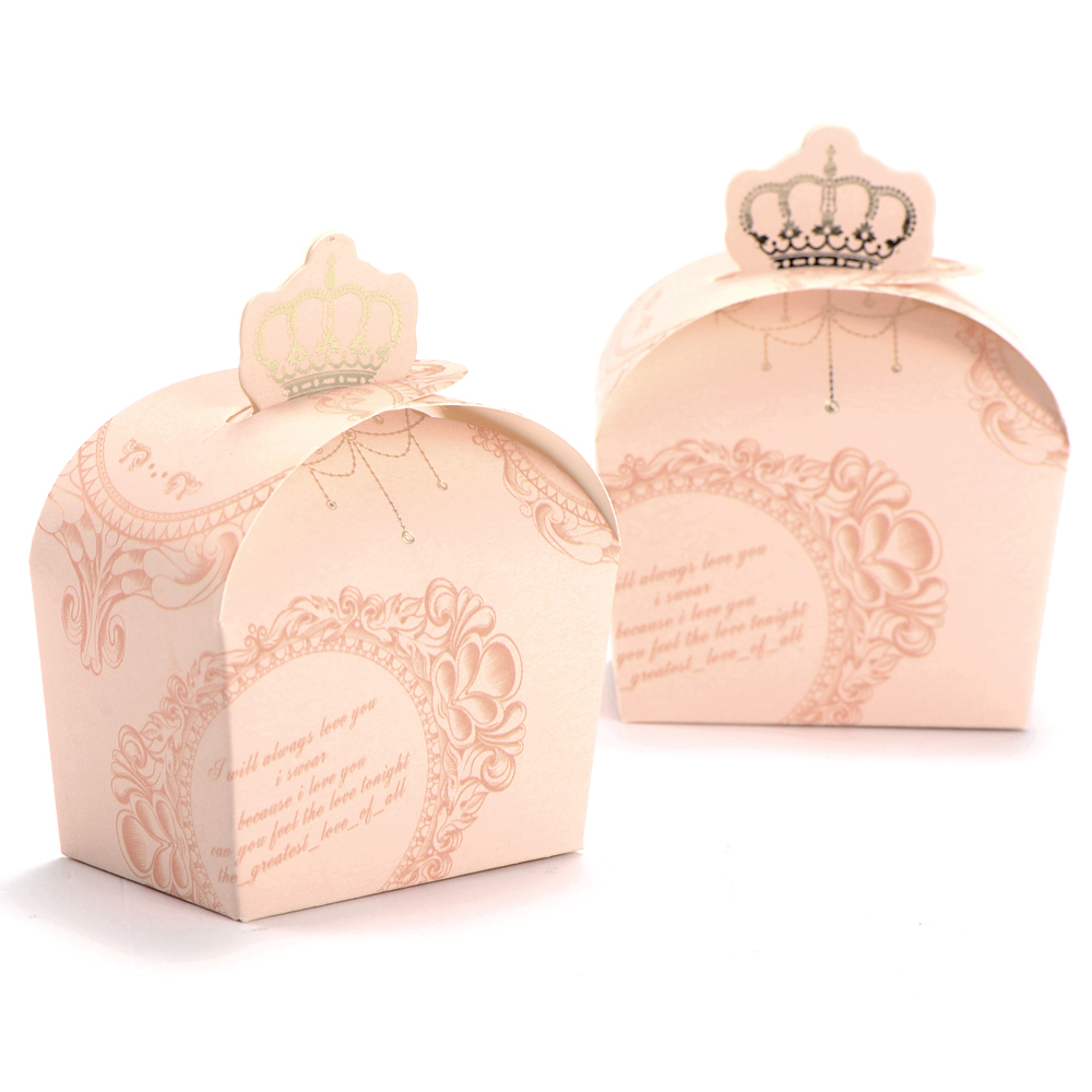 Wedding Gift Boxes Amazon : 50 Boxes Wedding Favour Candy Boxes Gift Boxes Crown Style Pink Green ...