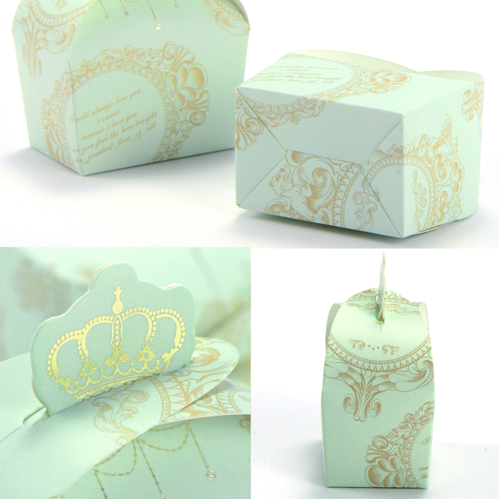 Wedding Gift Boxes Amazon : 50pcs Wedding Favor Candy Box Royal Crown Design Gift Boxes