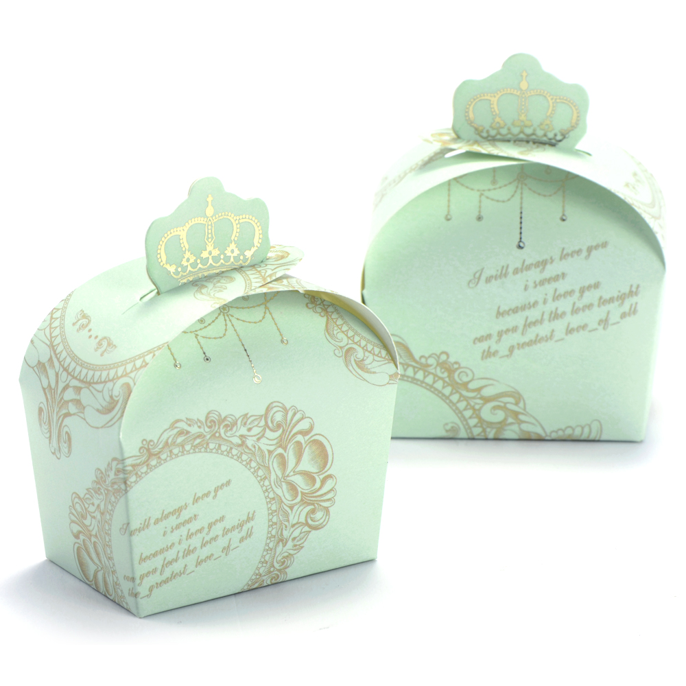 Wedding Favor Boxes: 50pcs Wedding Favor Candy Box Royal Crown Design Gift Boxes