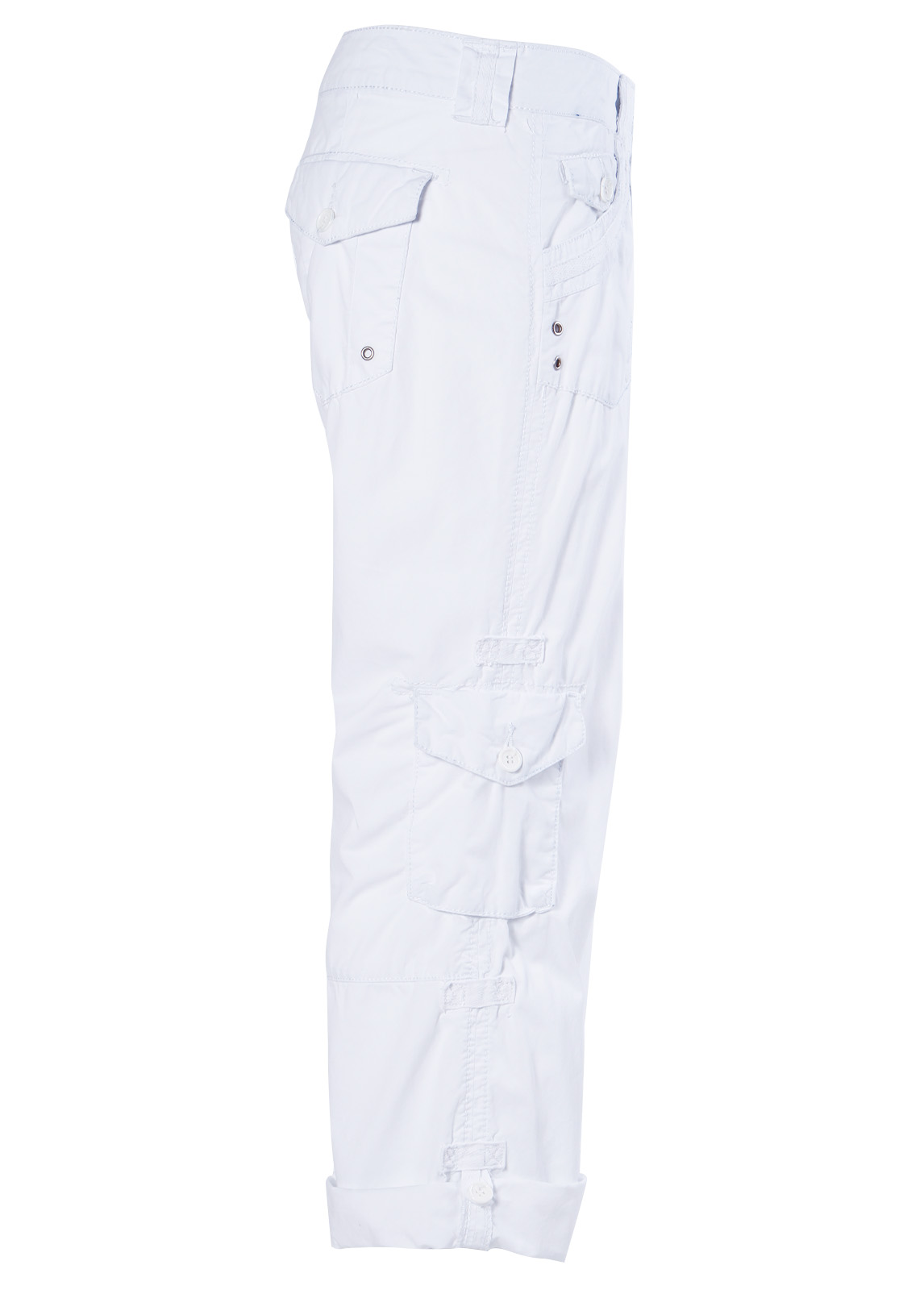 Awesome Deja Blue White Cargo Capri Pants  Zulily