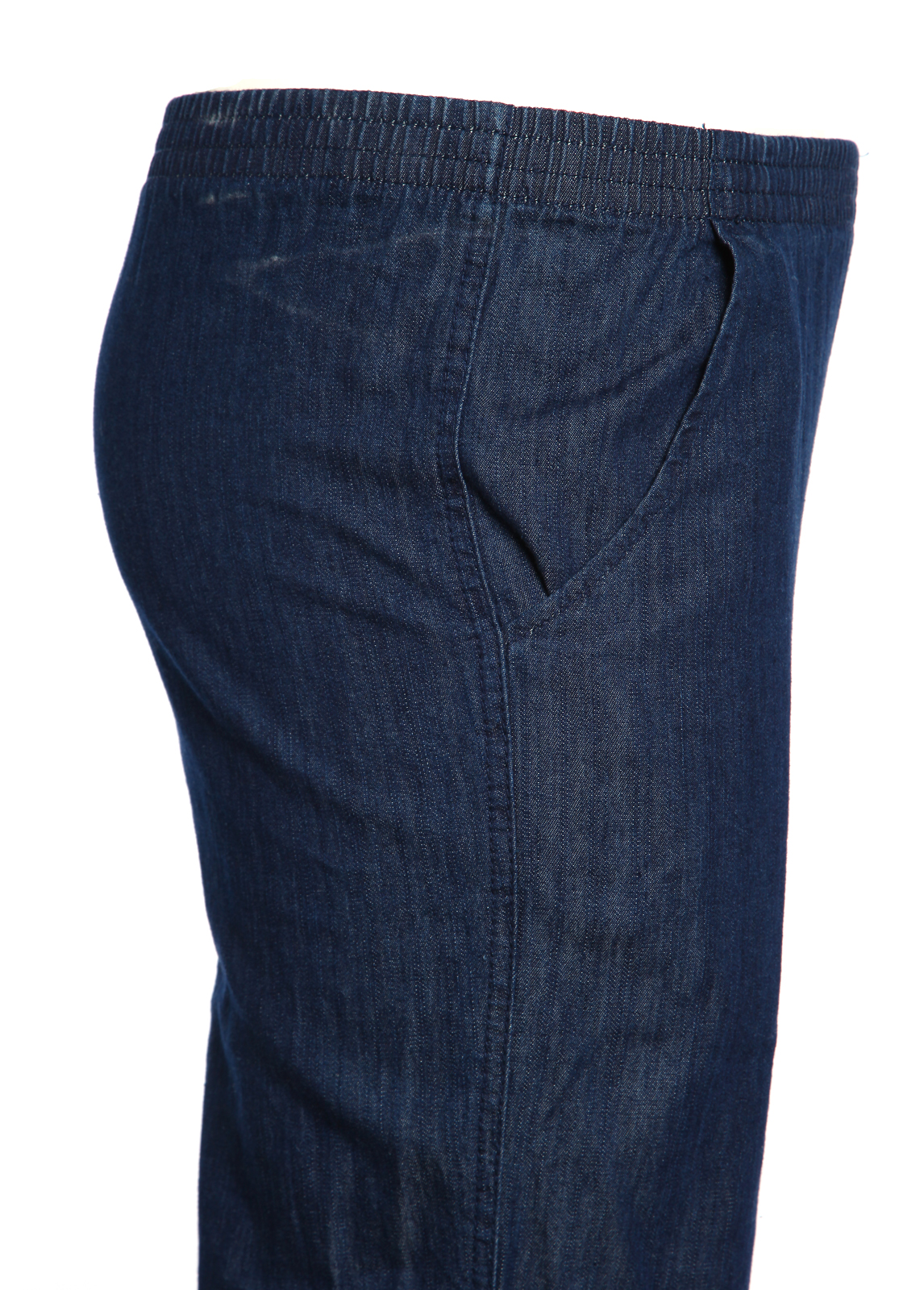 Koret Women Elastic Waist Relax Denim Relax Jeans Cropped ...