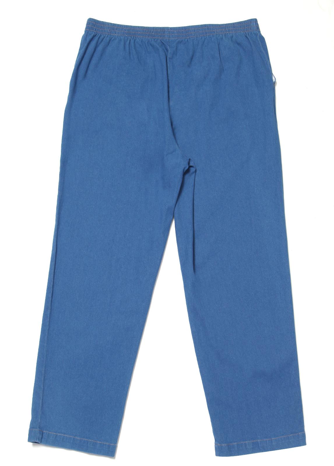 Wonderful Womens Casual Denim Jeans Pants Straight Leg Pull On Elastic High