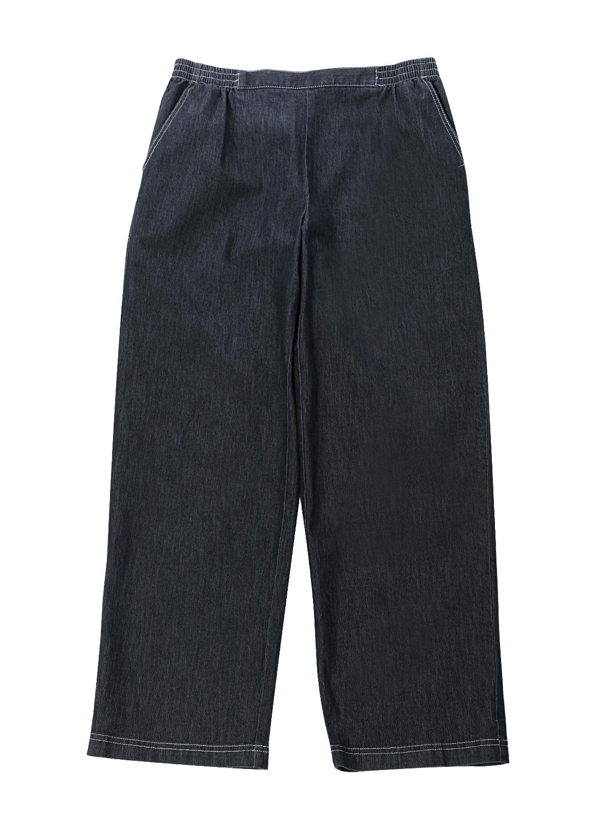 Womens Denim Jeans Elastic Waist Low Rise Pants Blue ...