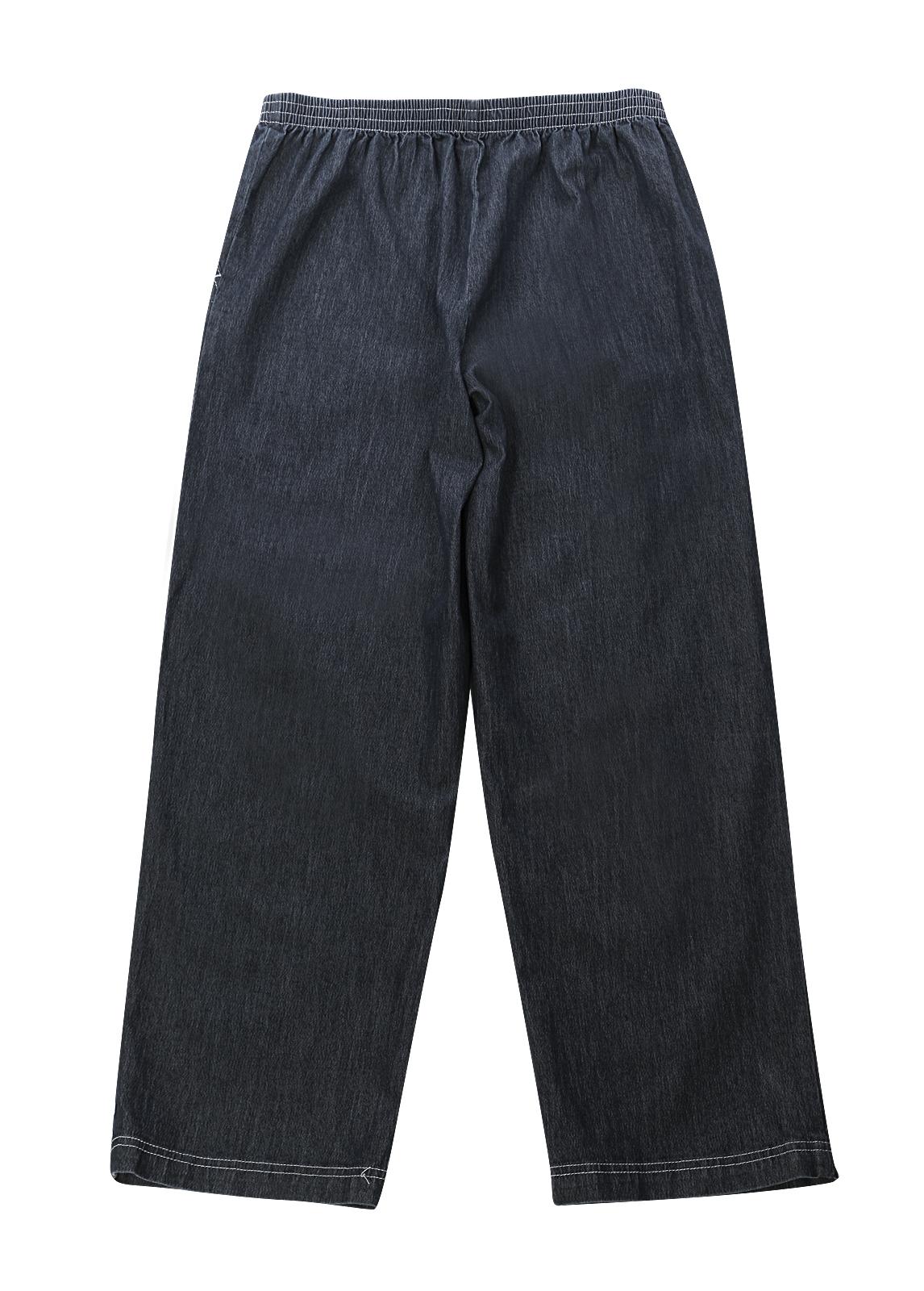 Womens Denim Jeans Elastic Waist Low Rise Pants Blue ... - photo#21