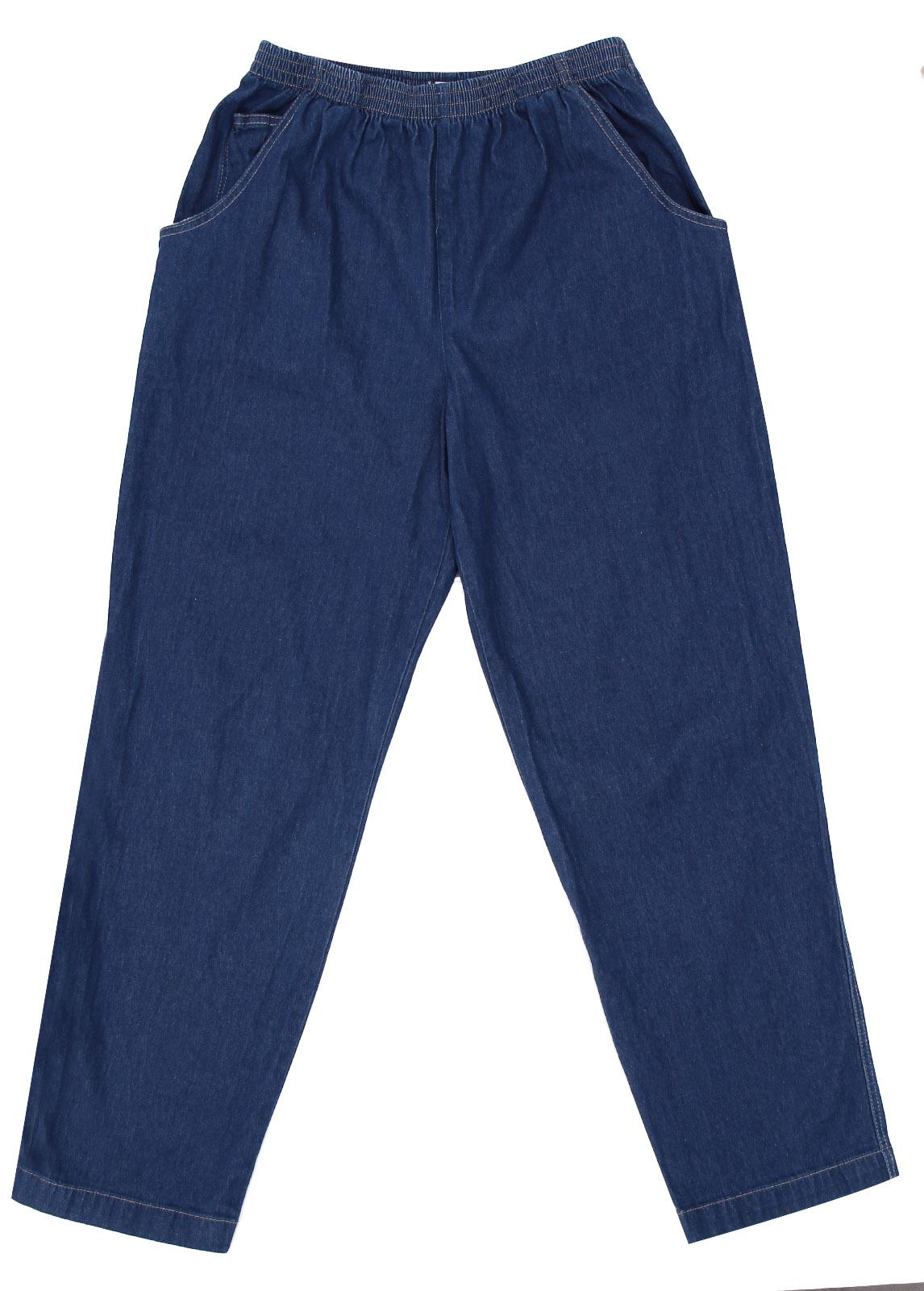 Amazing Women Casual Pants Denim Trousers Wide Leg Pants With Elastic Waist
