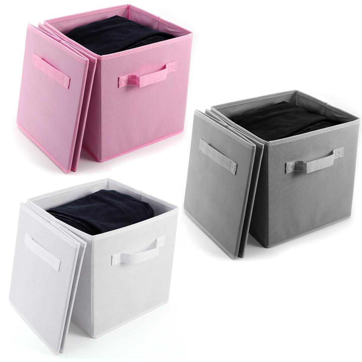 Paquete de 4pcs cajas de almacenaje para ropa accesorios - Cajas almacenaje ropa ...