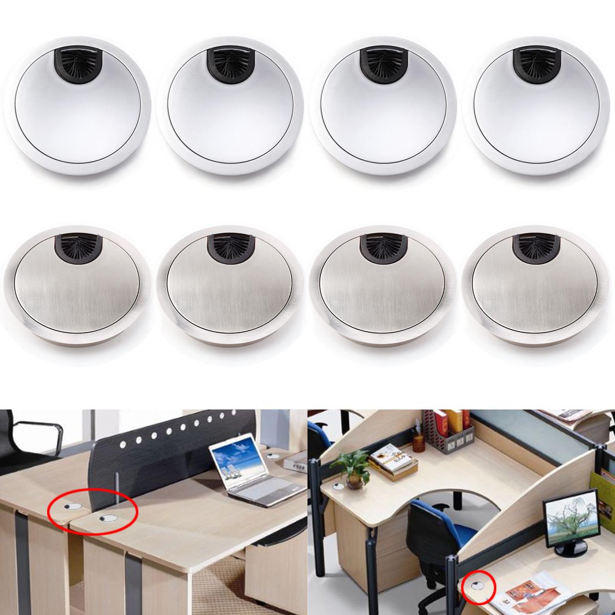 4pcs tap n pasacables con tapa 80mm para cables mueble de for Pasacables mesa oficina