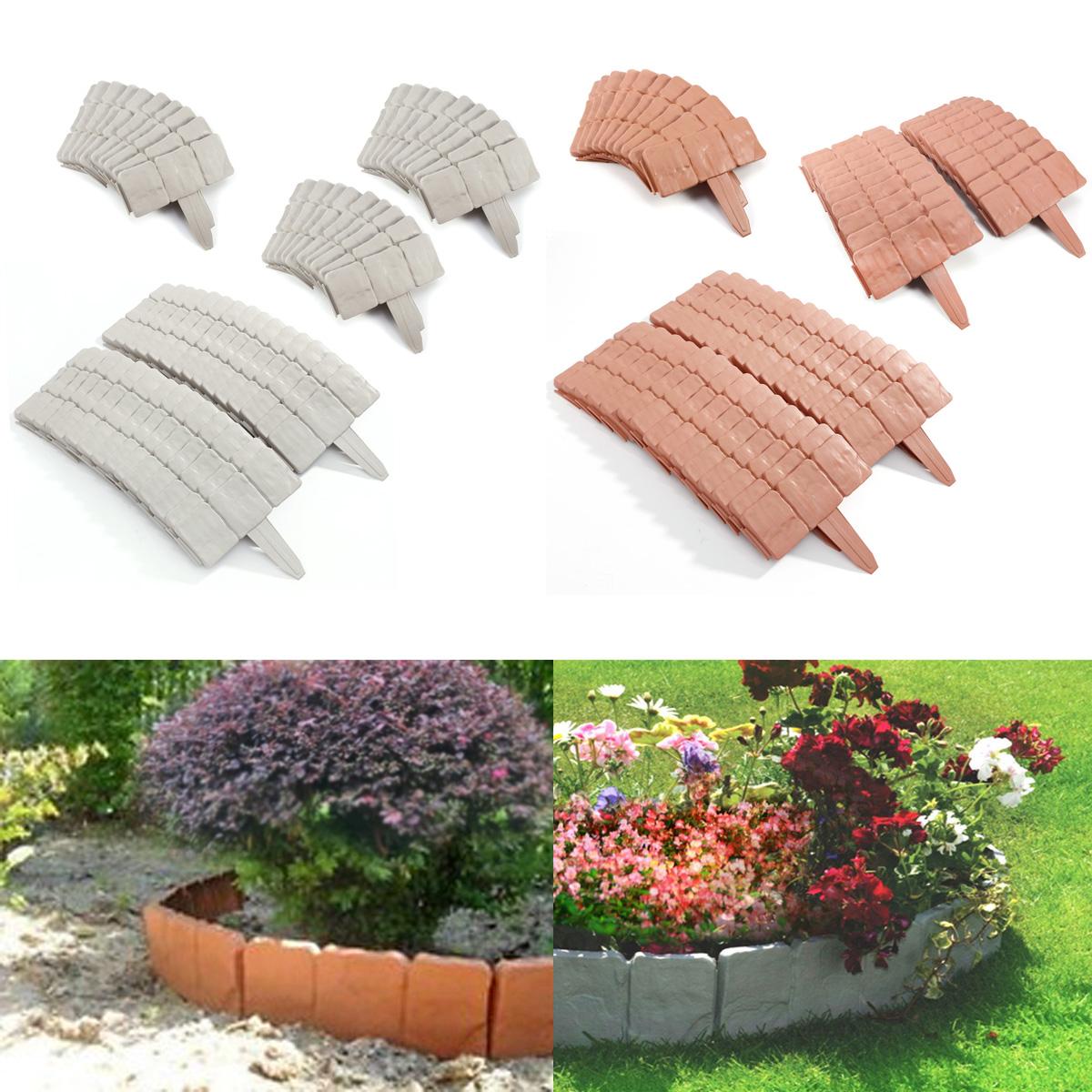 10 20 30 piezas mini valla para jard n bordura de pl stica for Borde plastico para jardin