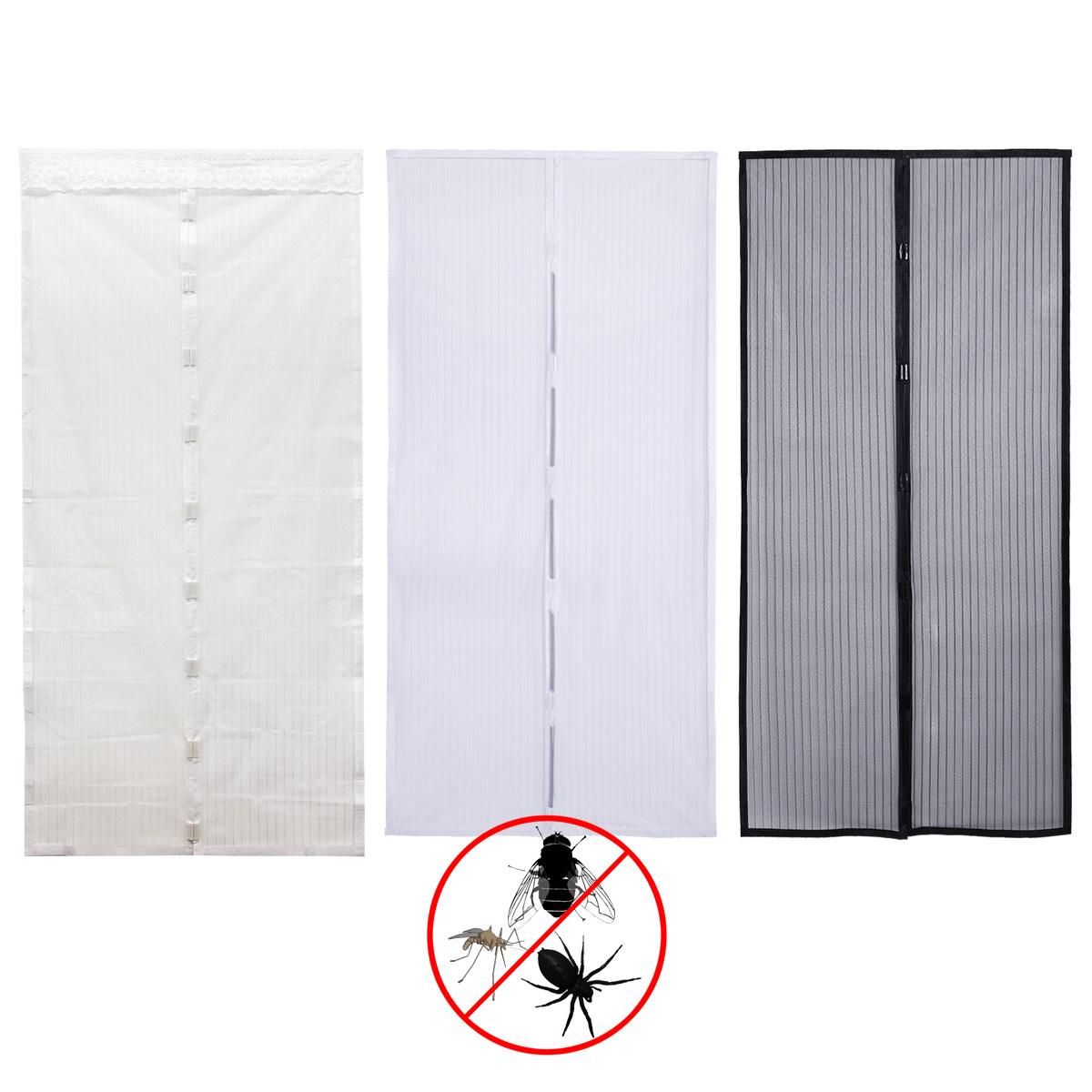 Cortina para puerta anti mosquitos insectos moscas cierre - Imanes para puertas ...