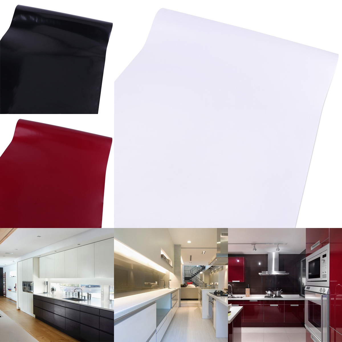 Vinyl kitchen water oil protect self adhesive contact for Adhesive covering for kitchen cabinets