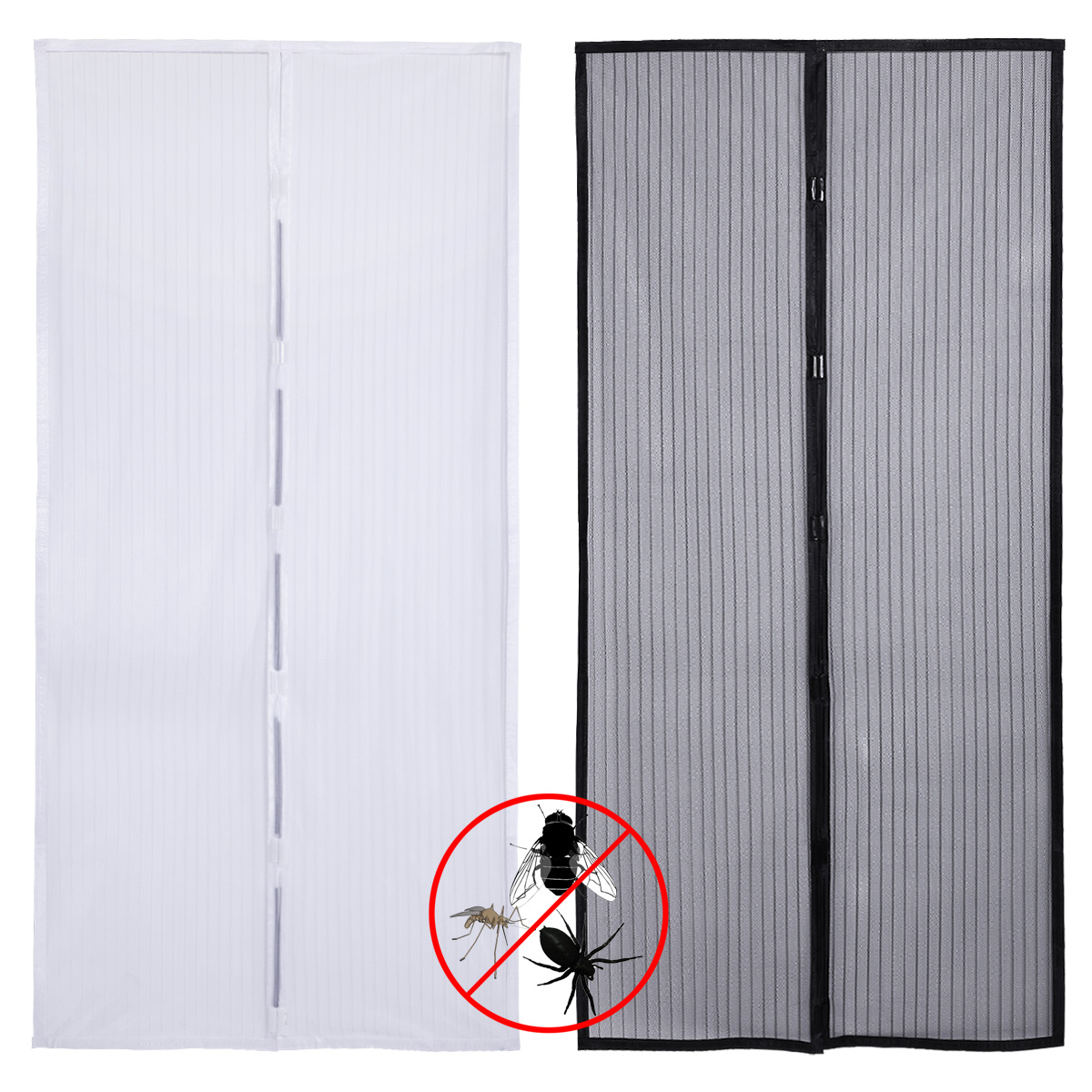 Funky magnetic bug net mesh door insect screen fly curtain for Insect door screen