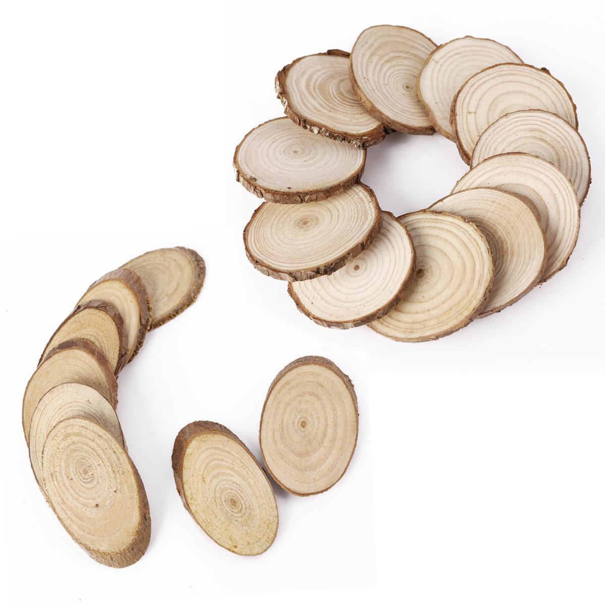 25 oval / rund holz holzscheiben namensschild geschenk hochzeit, Moderne