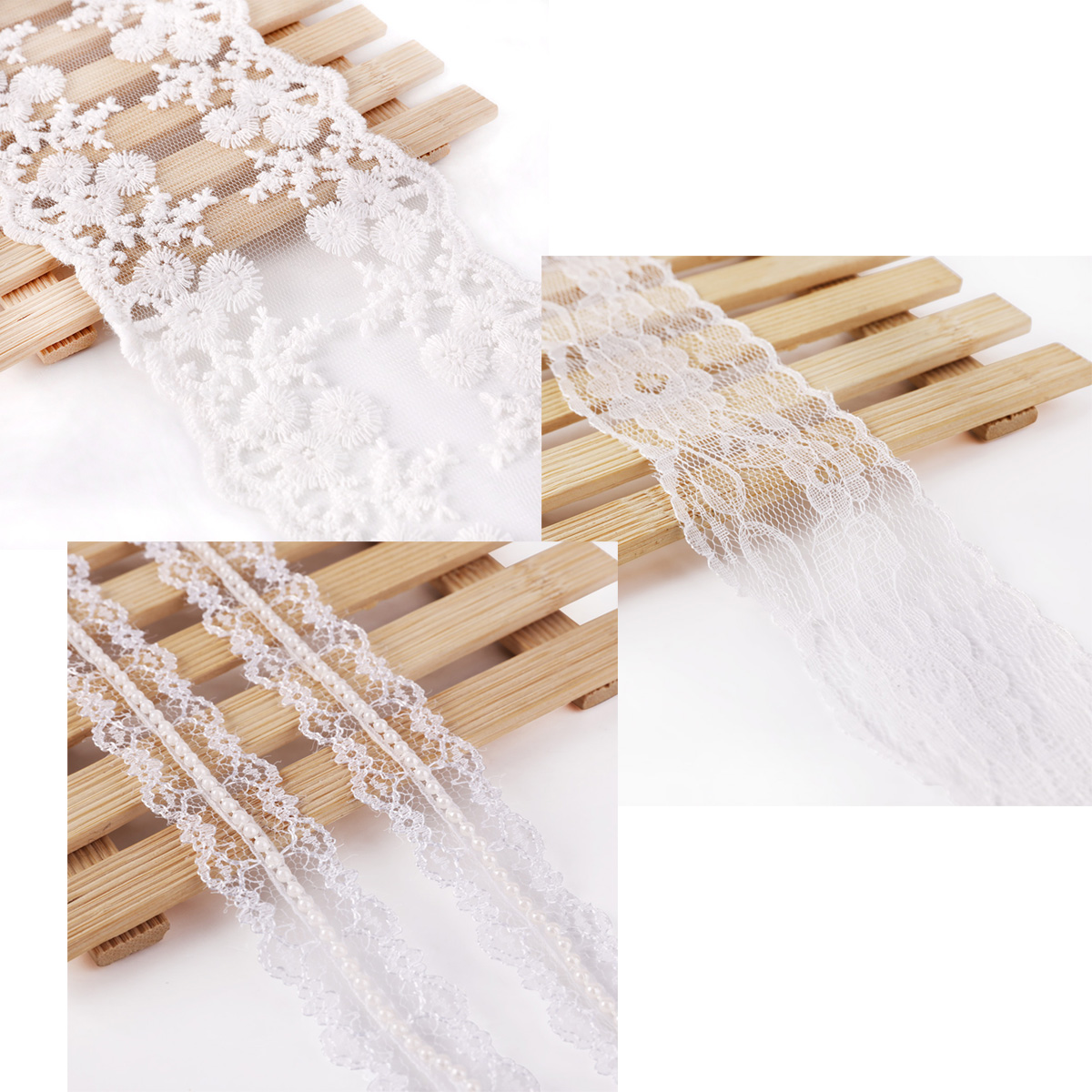 Vintage lace ribbon trim bridal flowers gifts craft for Craft ribbons and trims