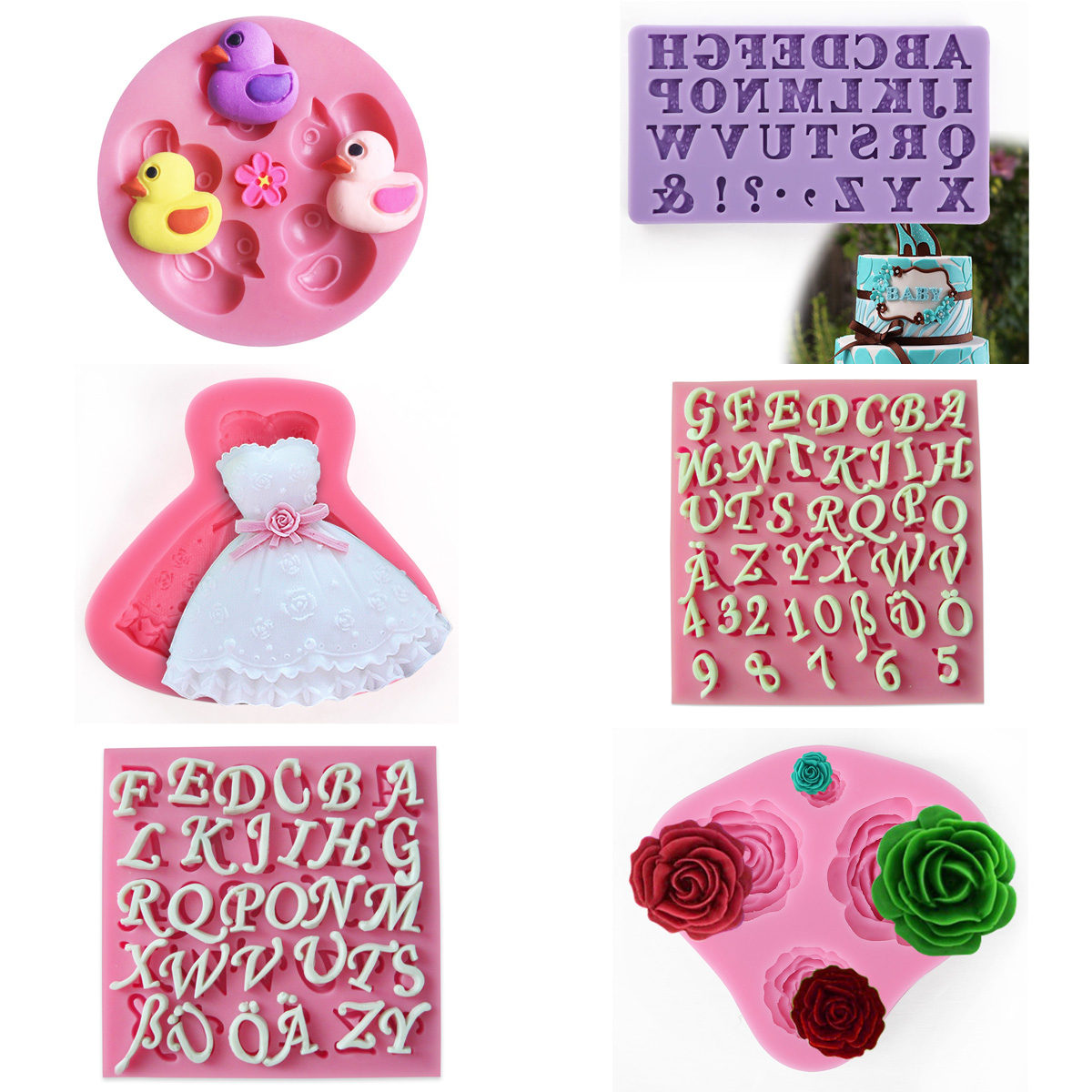 3D Silicone Cake Fondant Molds Cake Decorating Supplies ...
