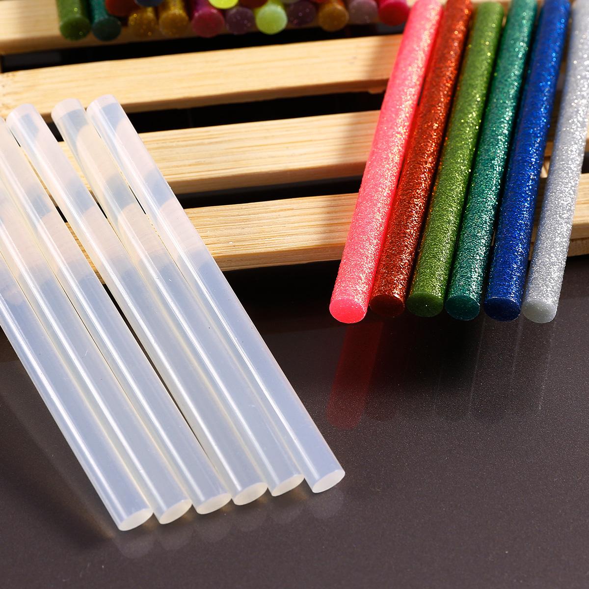 7mm klebesticks heisskleber heissleim transparent farbig bunt l nge 100mm ebay. Black Bedroom Furniture Sets. Home Design Ideas