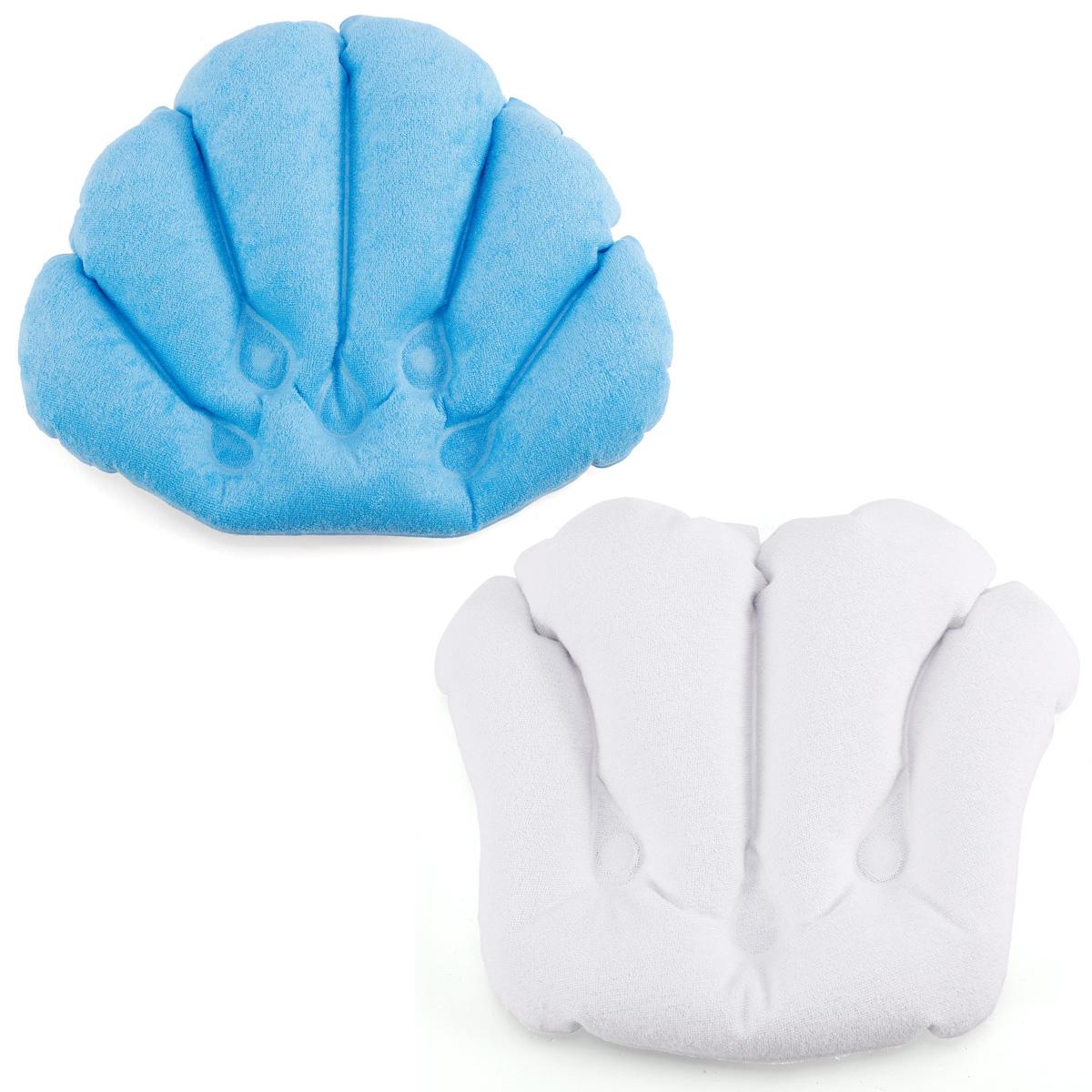 oreiller de bain gonflable pvc spa baignoire coussin bleu blanc ebay. Black Bedroom Furniture Sets. Home Design Ideas
