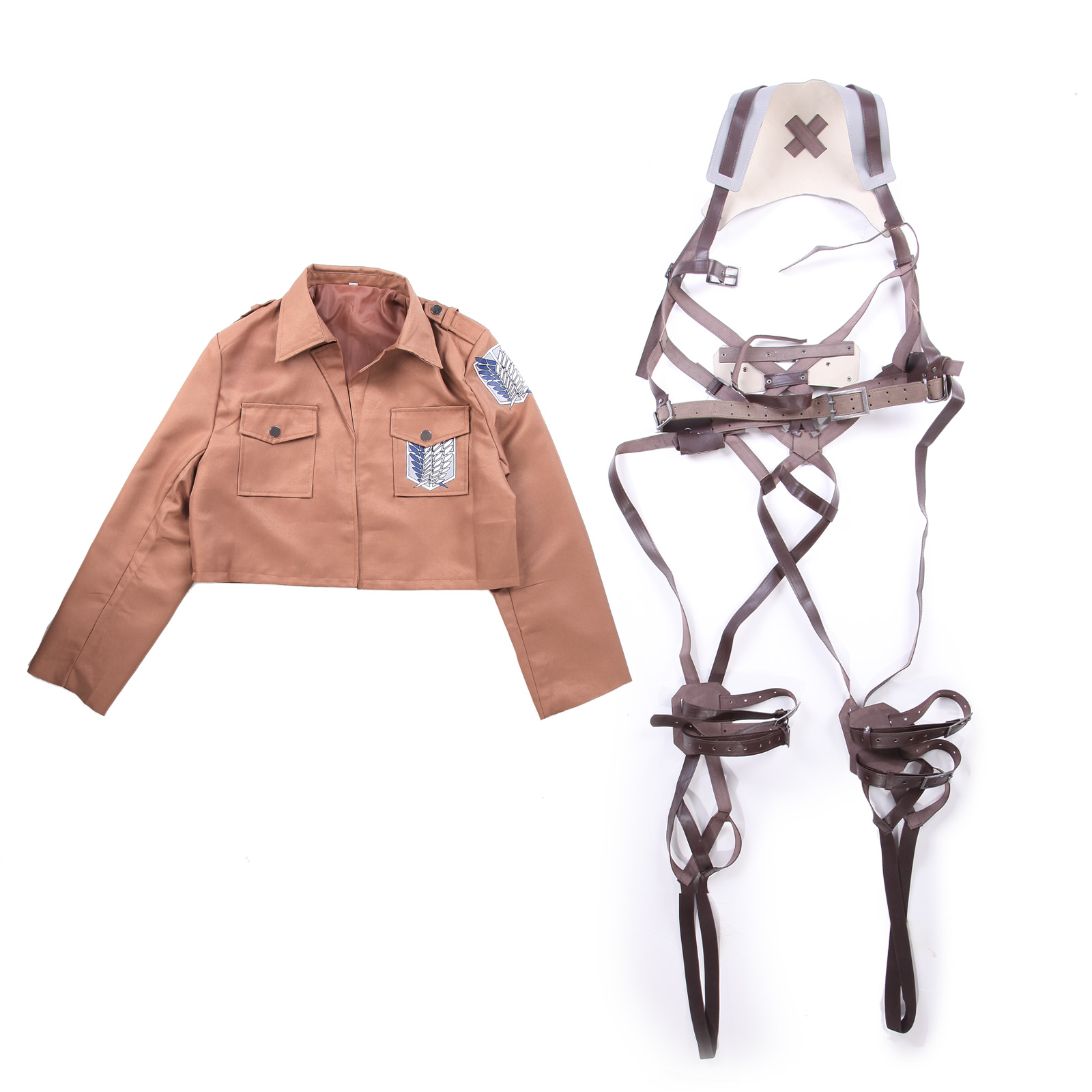 attack on titan cosplay jacket survey corps scouts uniform. Black Bedroom Furniture Sets. Home Design Ideas