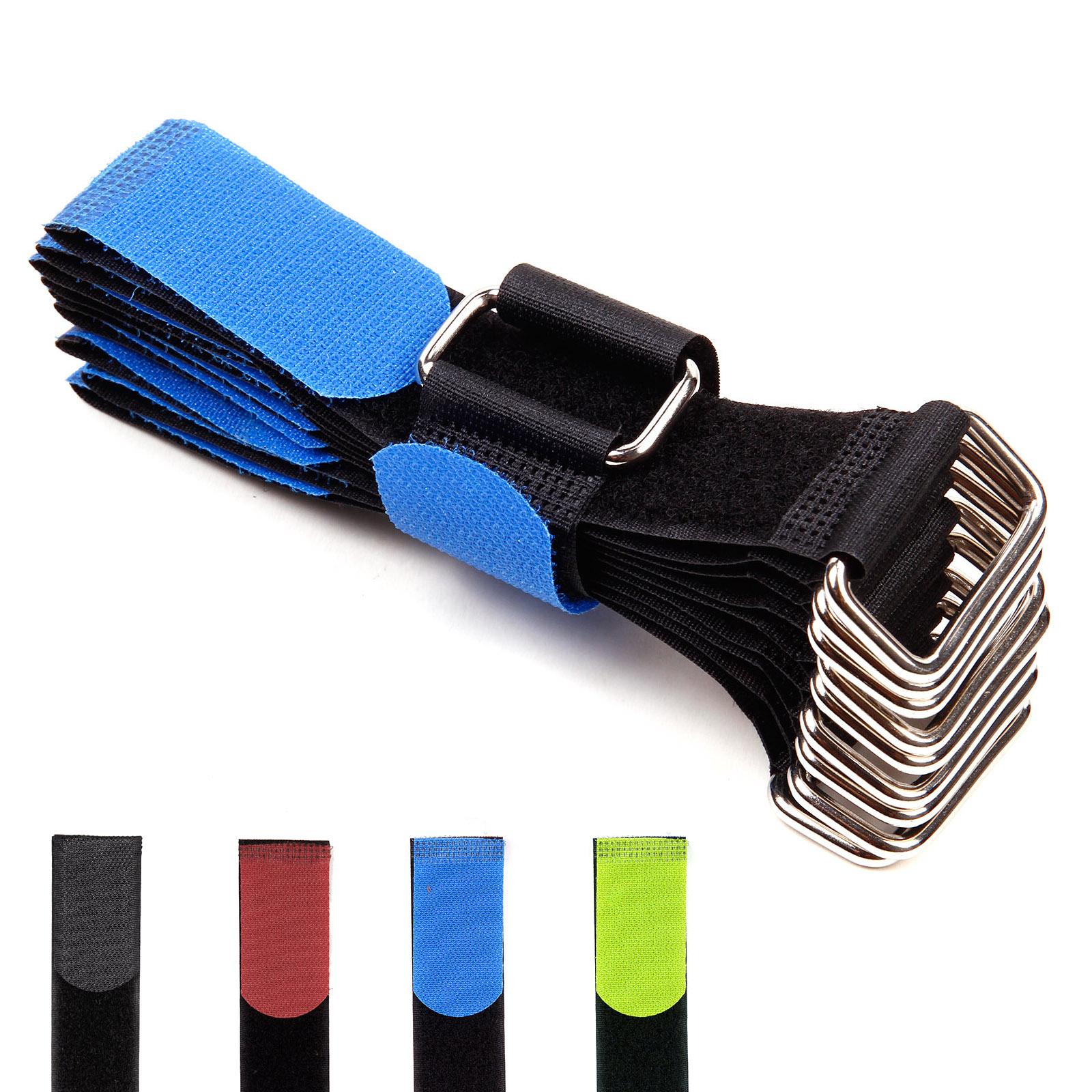 10 20 30 40 50 st ck kabel klettband schwarz metall se kabelklett kabelbinder ebay. Black Bedroom Furniture Sets. Home Design Ideas