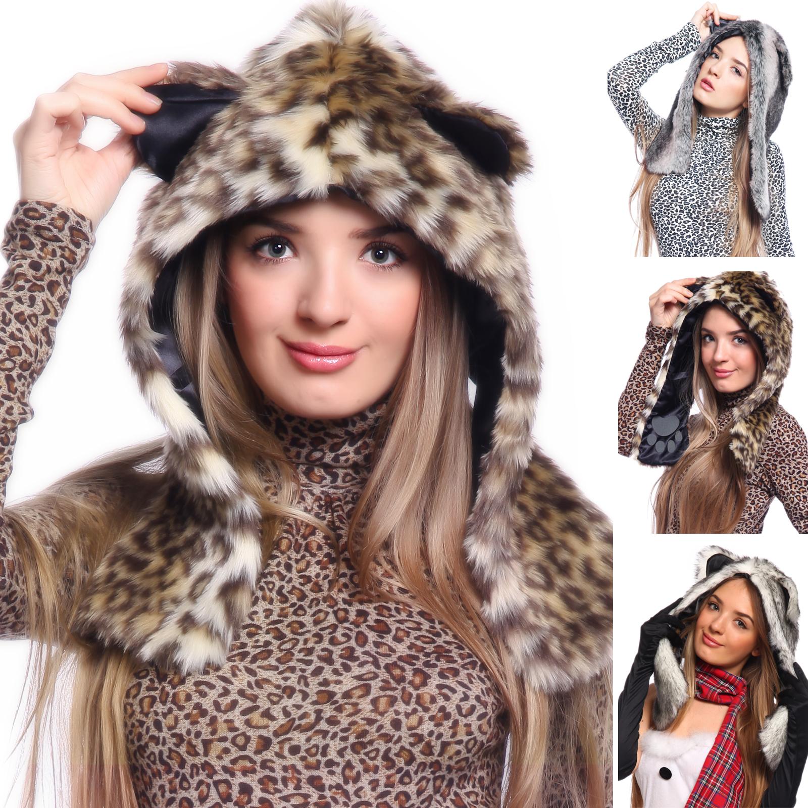 Cute Furry party Animal Ear Hoodie HAT animal HOOD hoody paws wolf