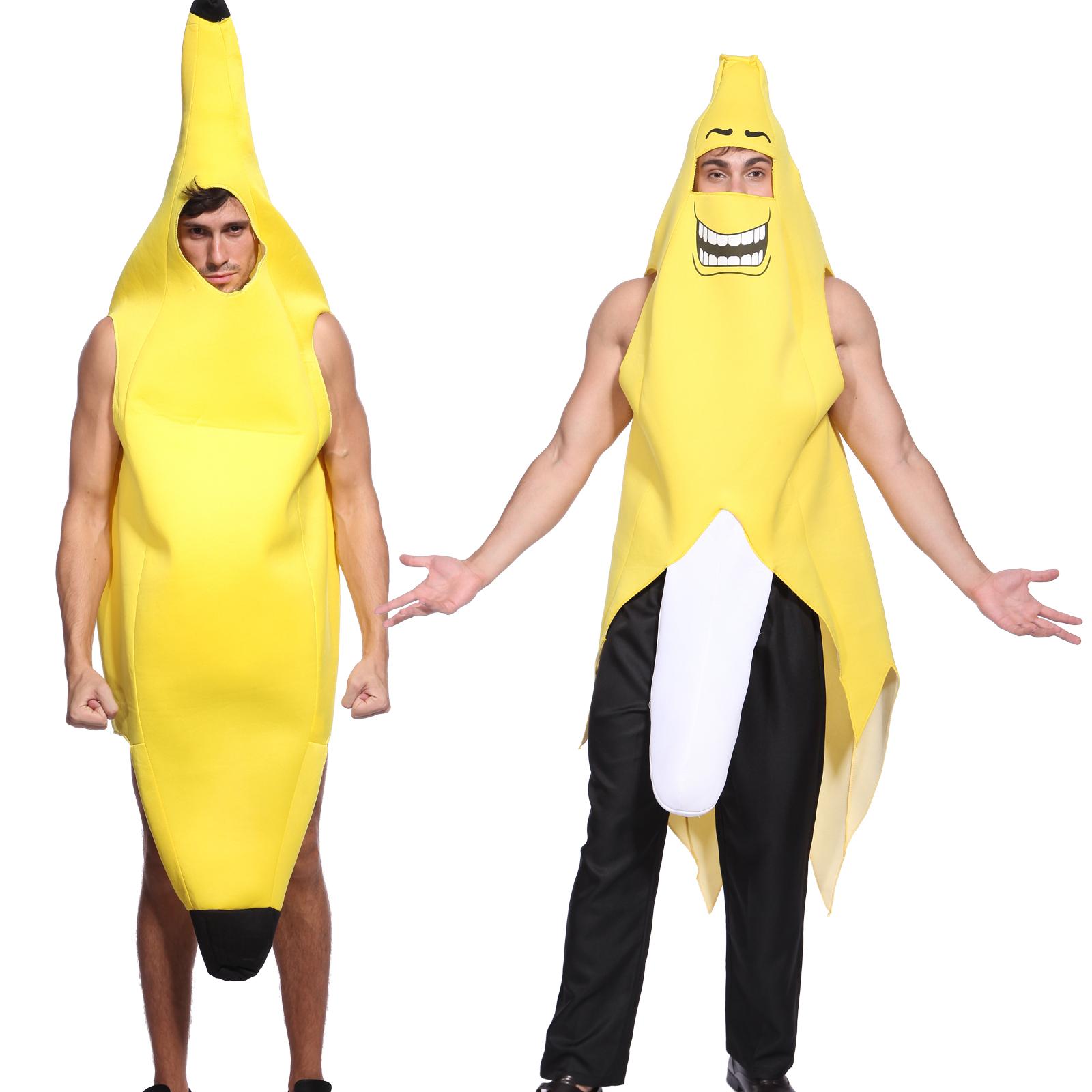 bananenanzug fasching verkleidung damen herren banane kost m gruppenkost m fancy ebay. Black Bedroom Furniture Sets. Home Design Ideas