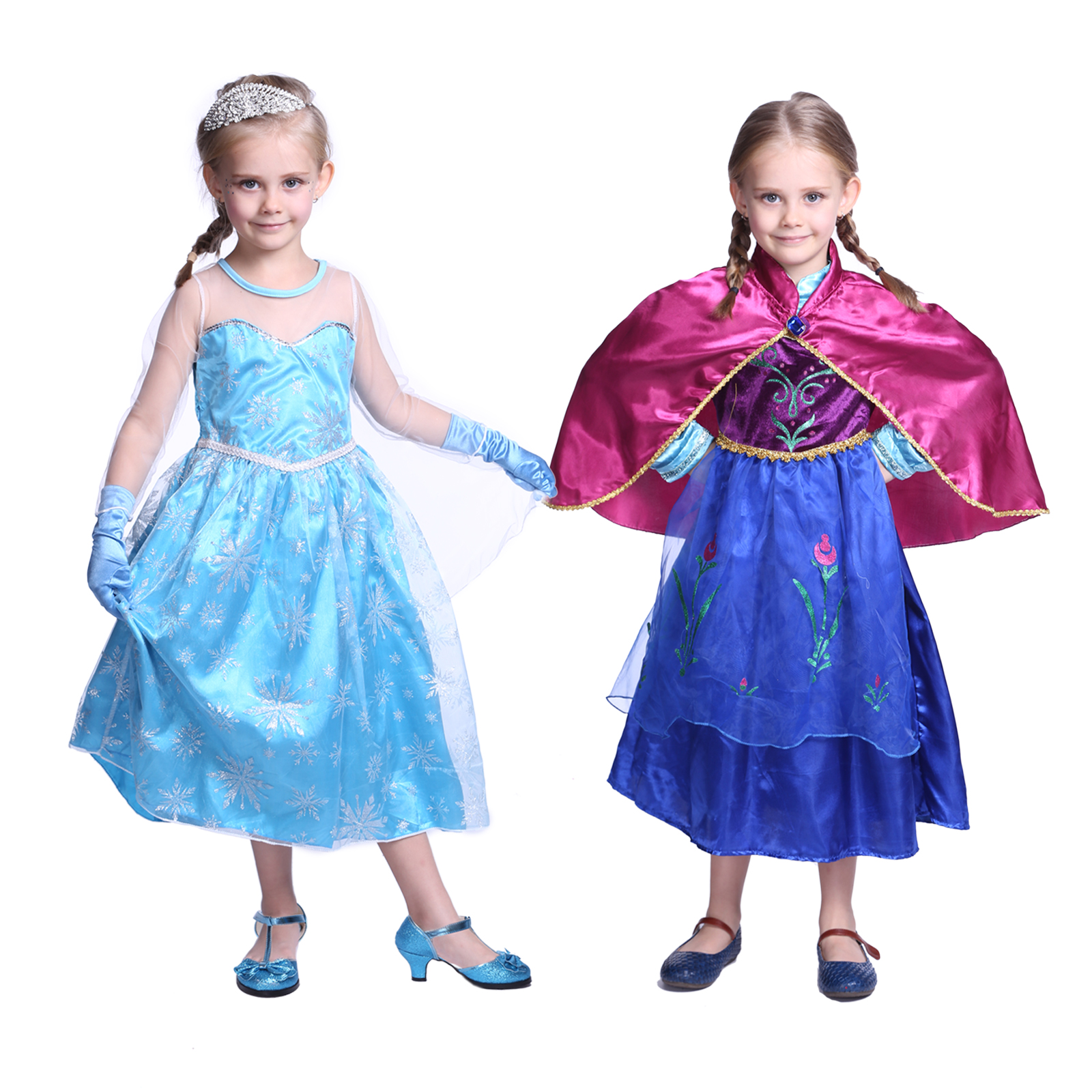 120 140cm frozen eisk nigin prinzessin anna kleid elsa fancy kost m halloween ebay. Black Bedroom Furniture Sets. Home Design Ideas
