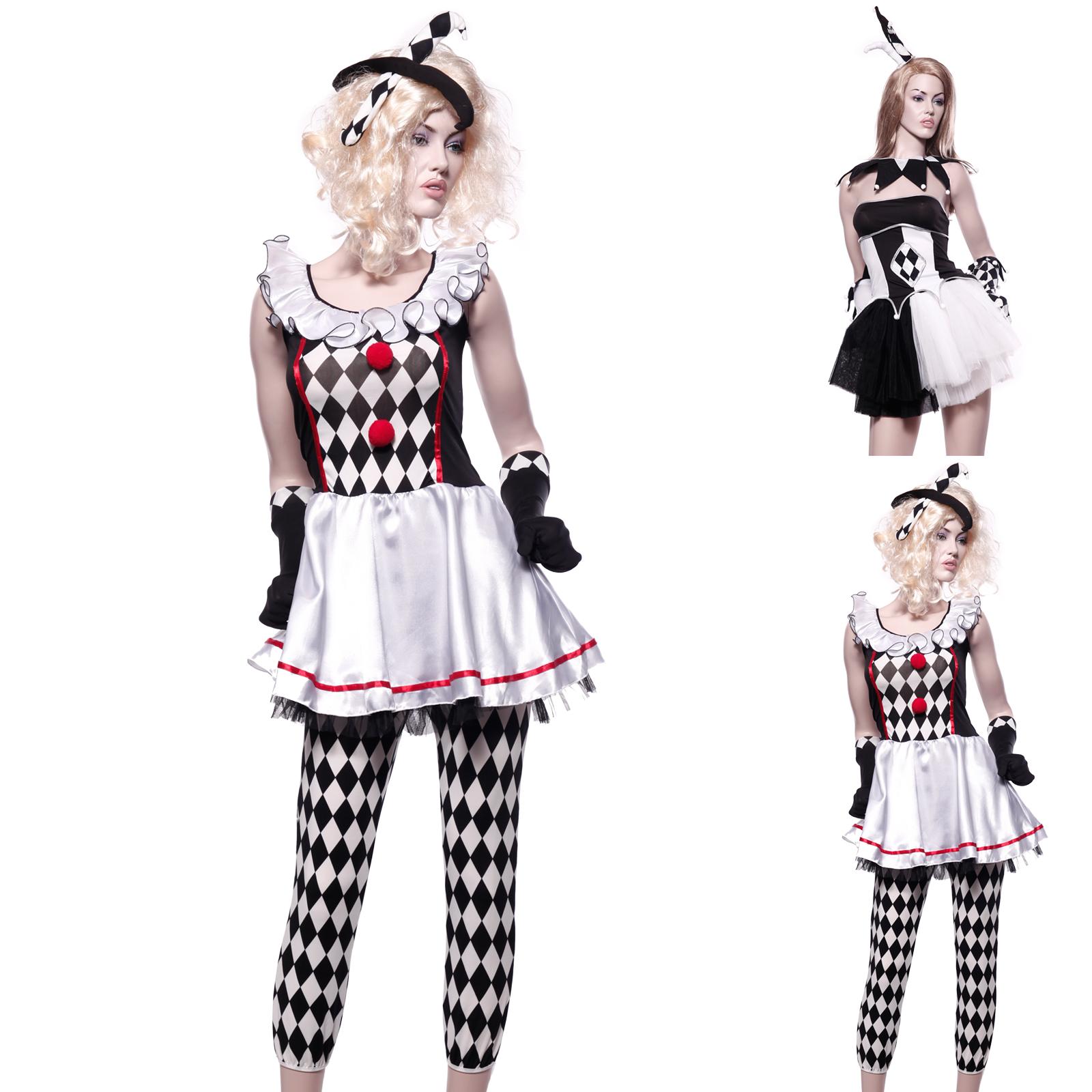 harlekinkost m damen clownkost m hofnarr harlekin kost m. Black Bedroom Furniture Sets. Home Design Ideas