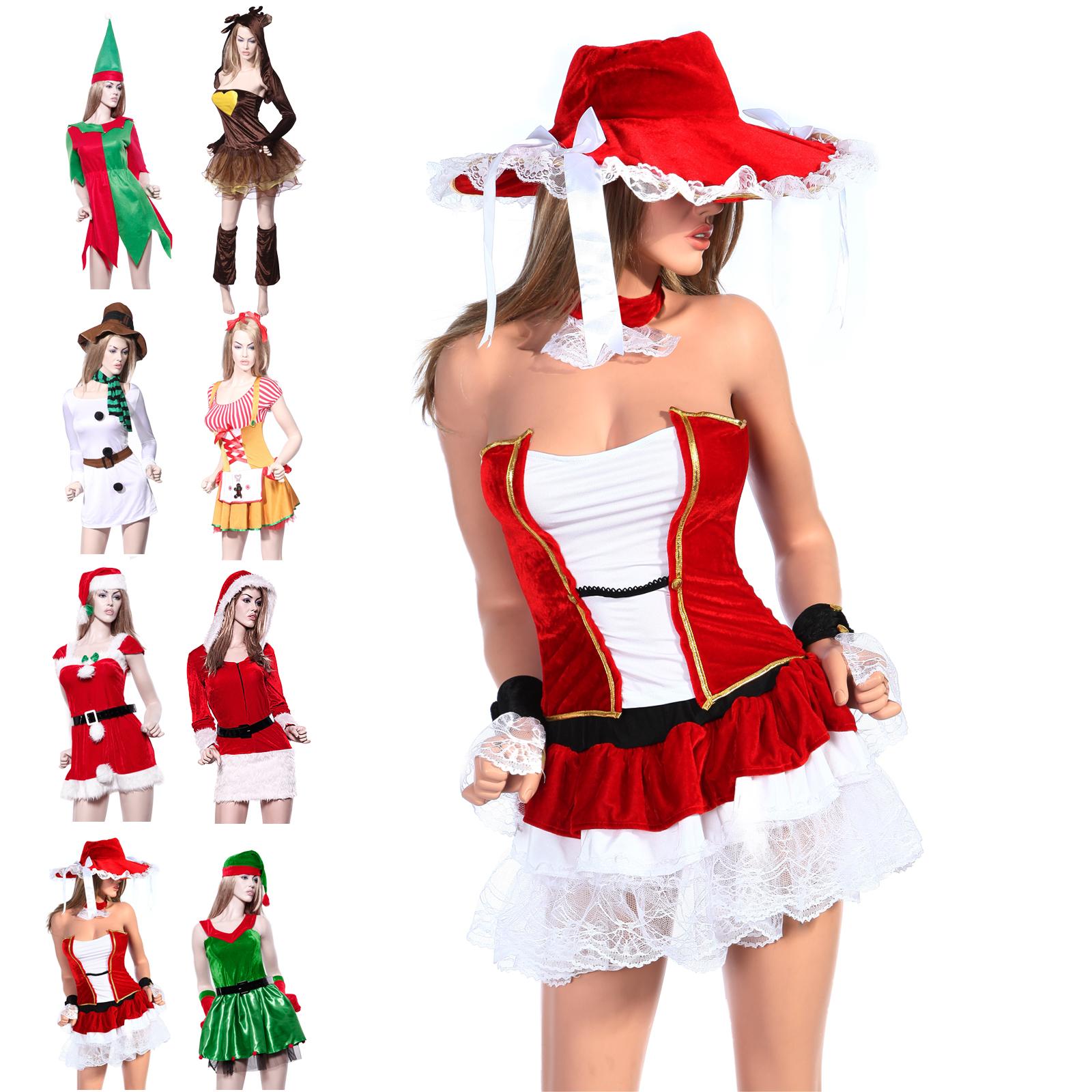 weihnachtsfrau damen weihnachten kost m nikolaus miss. Black Bedroom Furniture Sets. Home Design Ideas
