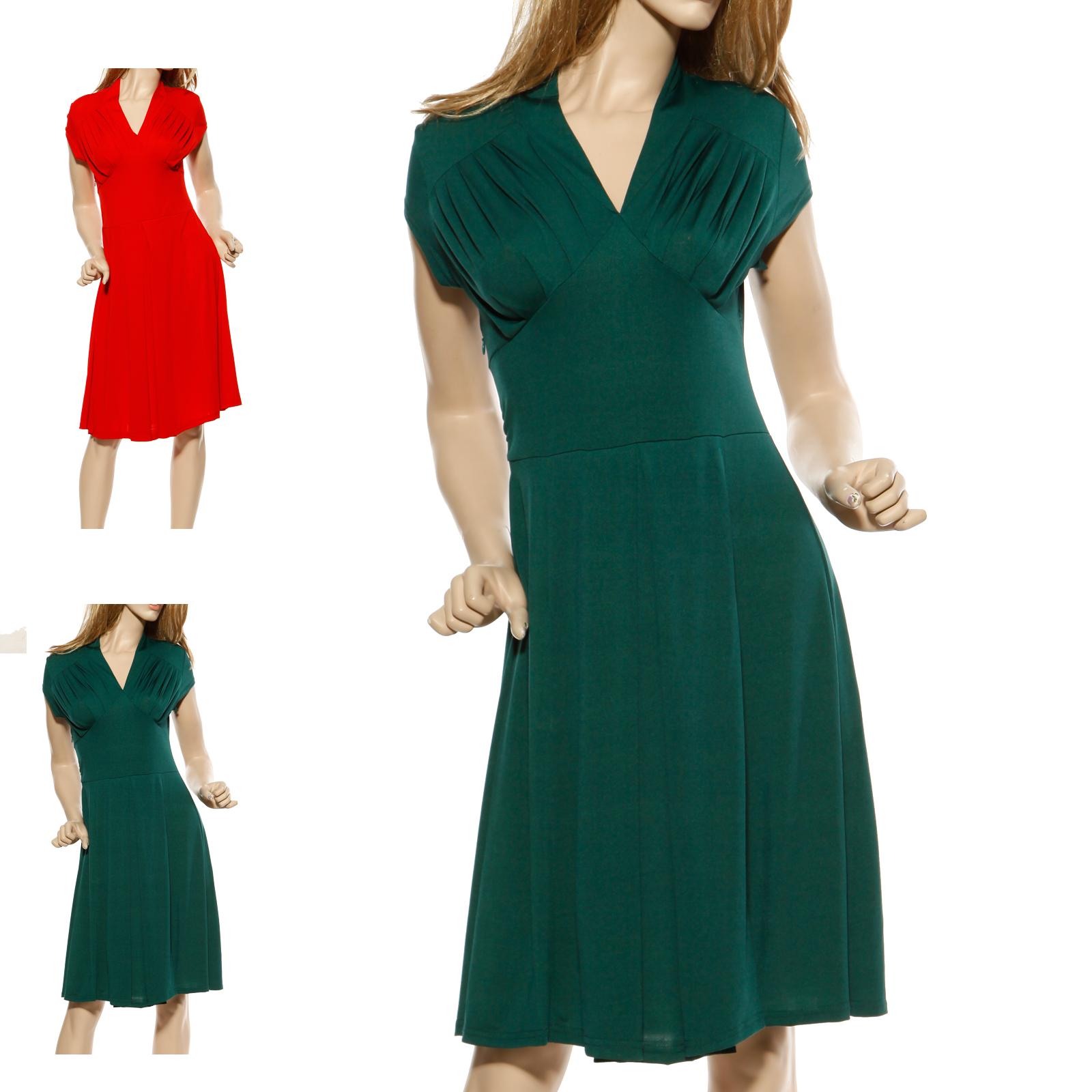50er 60er damen business swing kleider petticoat partykleid ballkleid abendkleid ebay. Black Bedroom Furniture Sets. Home Design Ideas