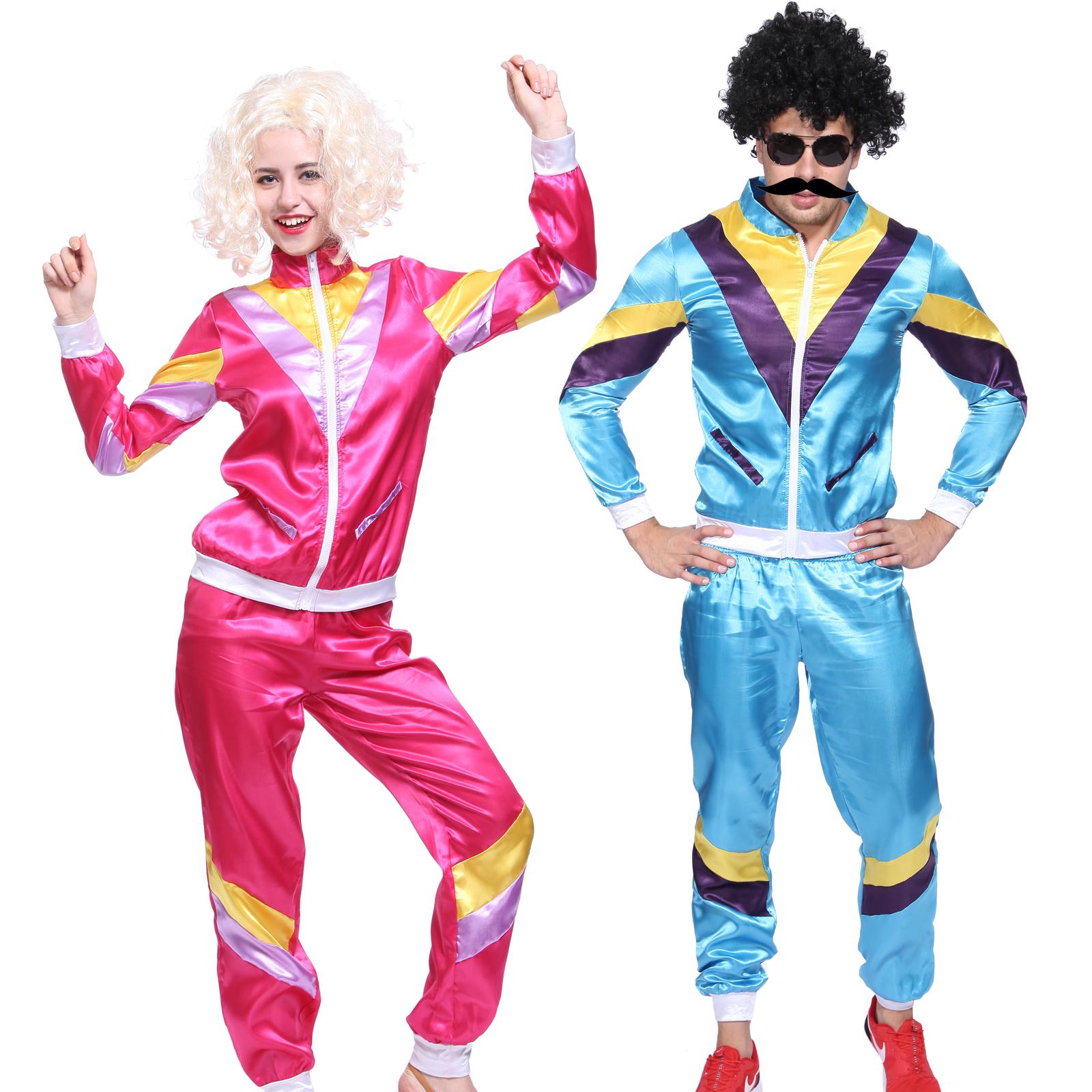 karneval mottoparty kost m damen herren 80er trainingsanzug assianzug sportler ebay. Black Bedroom Furniture Sets. Home Design Ideas