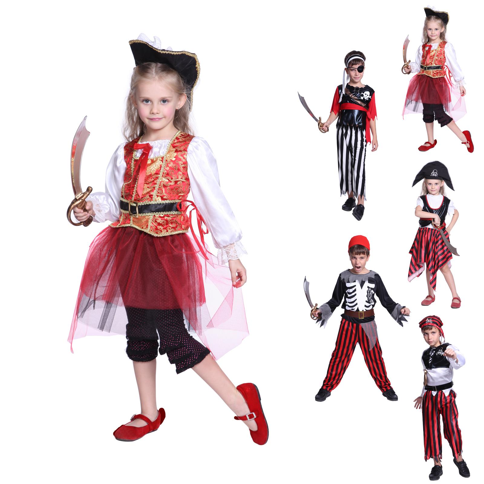 karneval kost m fluch der karibik kinder m dchen piraten. Black Bedroom Furniture Sets. Home Design Ideas